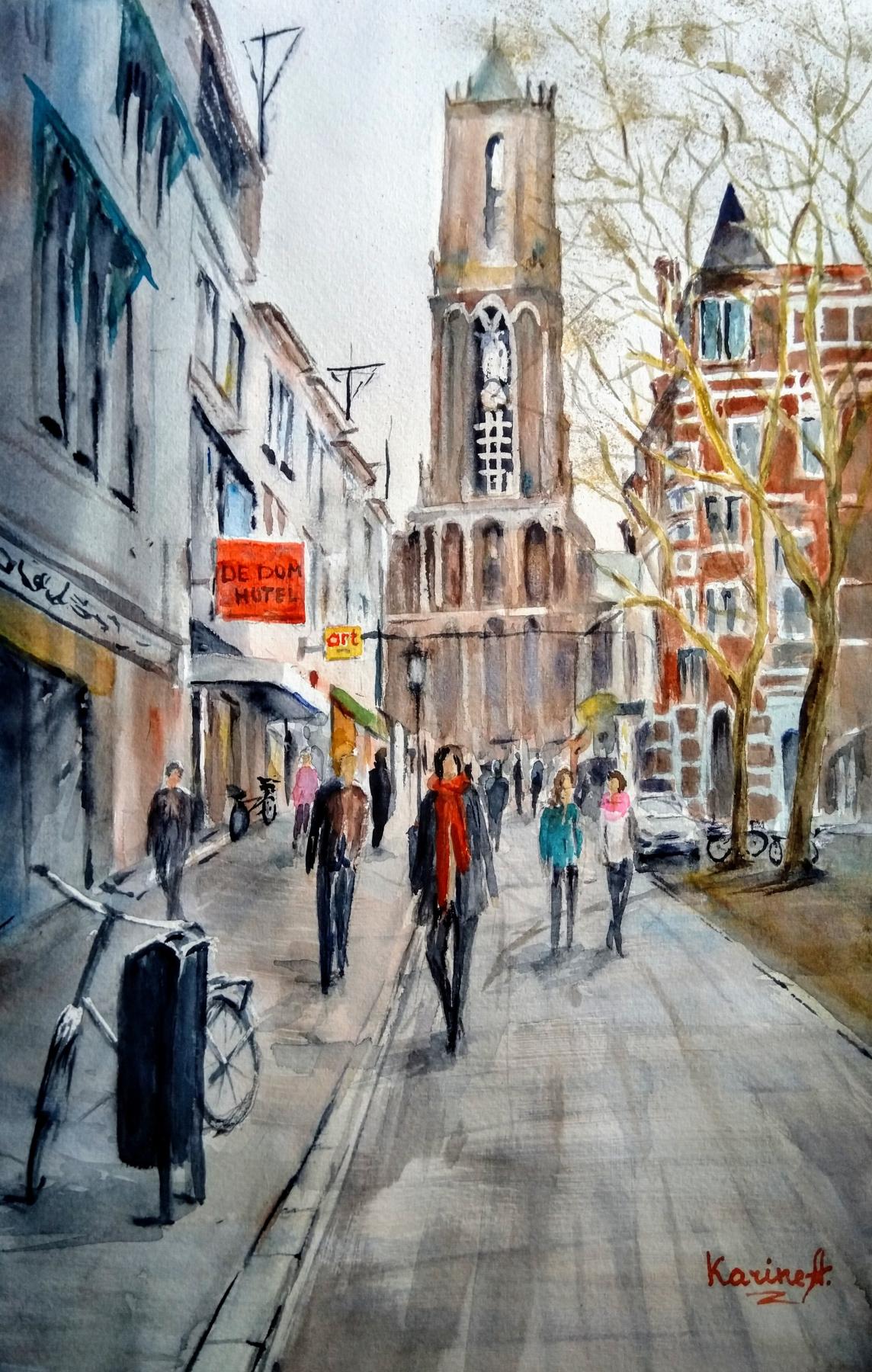 Karine Andriasyan. Walk in Utrecht