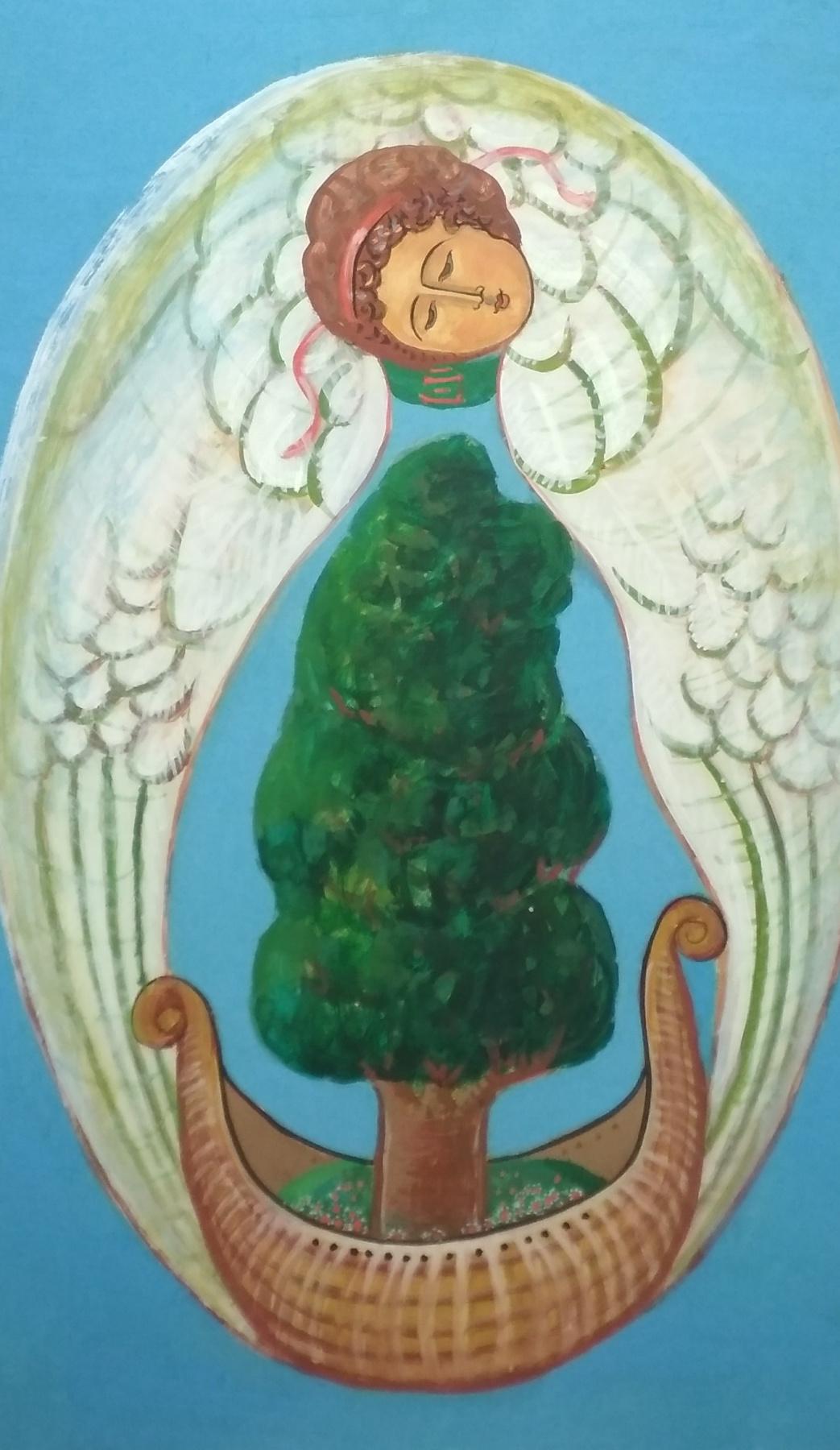 Rostislav Nikolaevich Ivanov. Angel with the Ark of the Seasons - Summer
