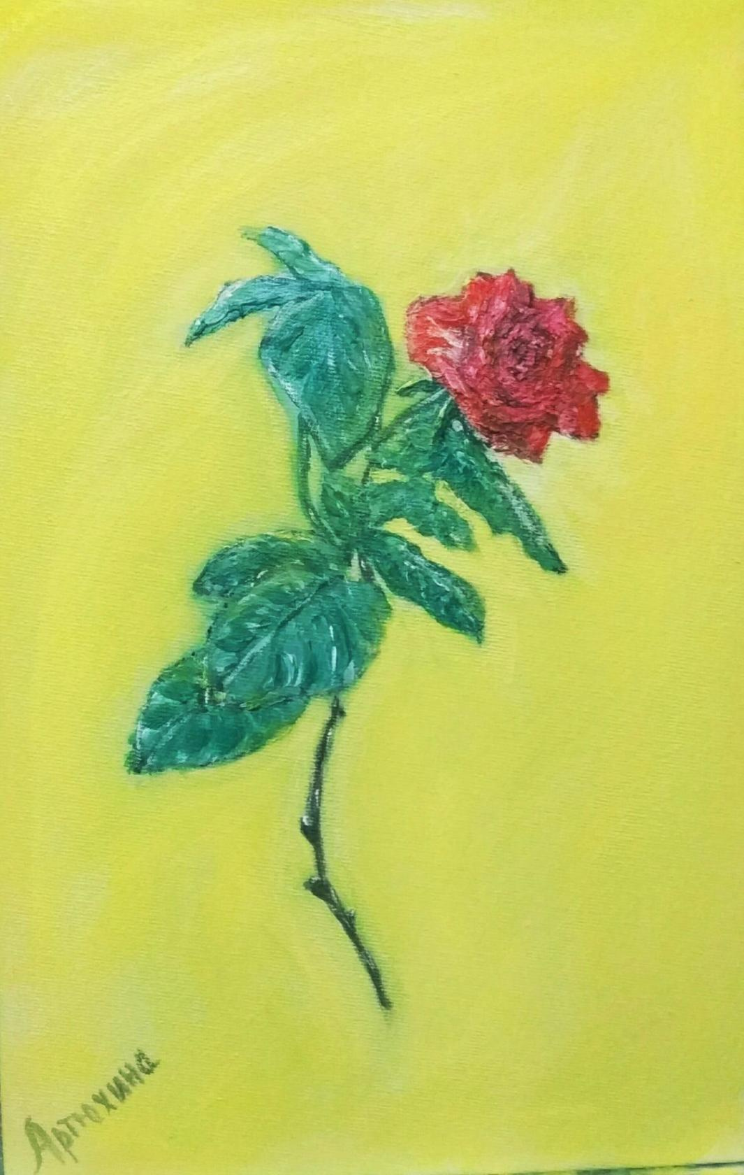 Irina Artyukhina. Rose flower