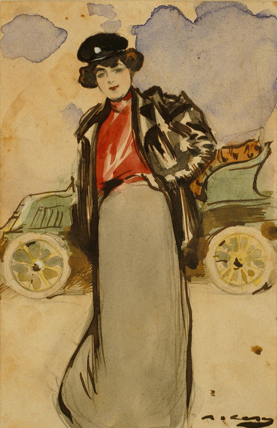 Ramon Casas i Carbó. Car lover