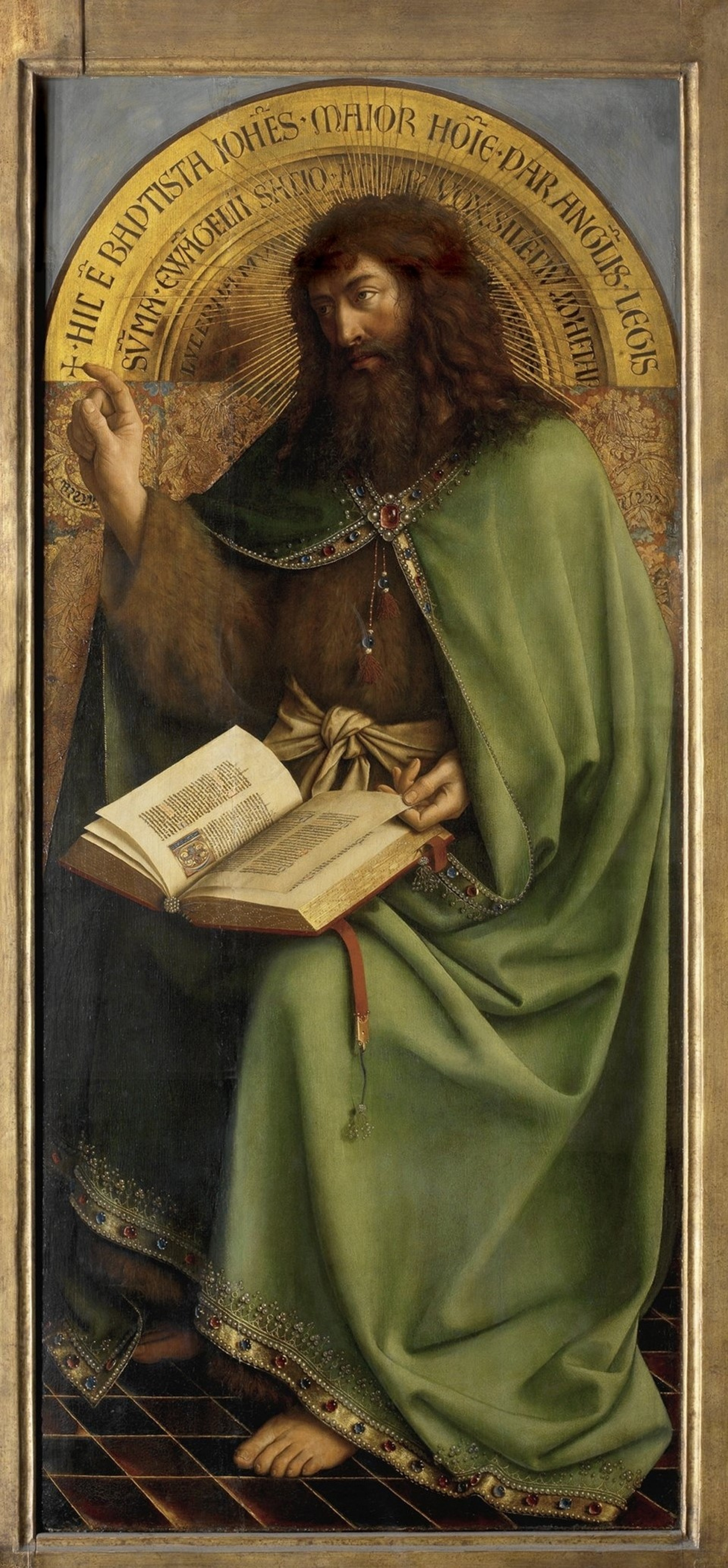 Jan van Eyck. The Ghent altarpiece. John the Baptist (detail)