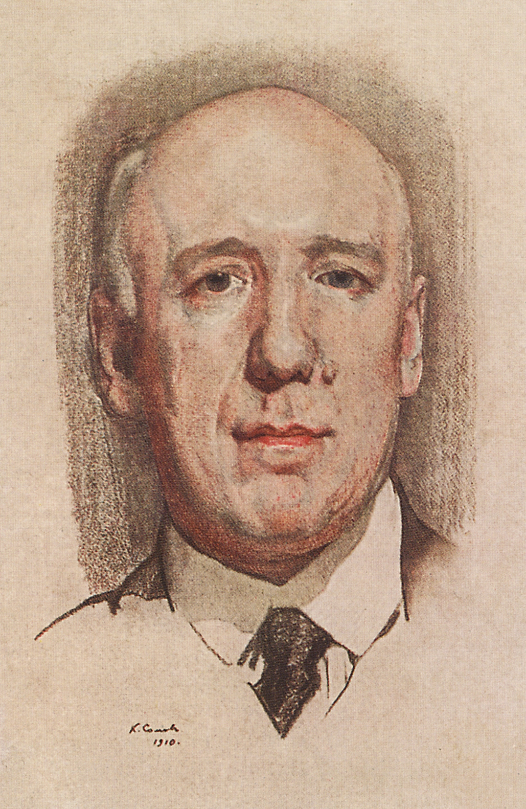 Konstantin Somov. Portrait Of Fyodor K. Sologub. Made for the collected works of F. K. Sologub