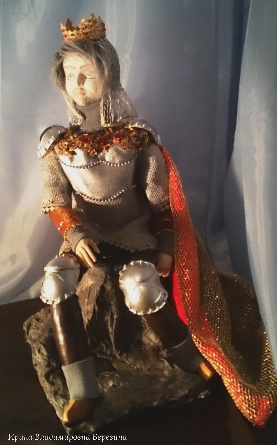 """Ирина Владимировна Березина. """"Король Артур"""" Авторская кукла созданная на основе исторического образа"""