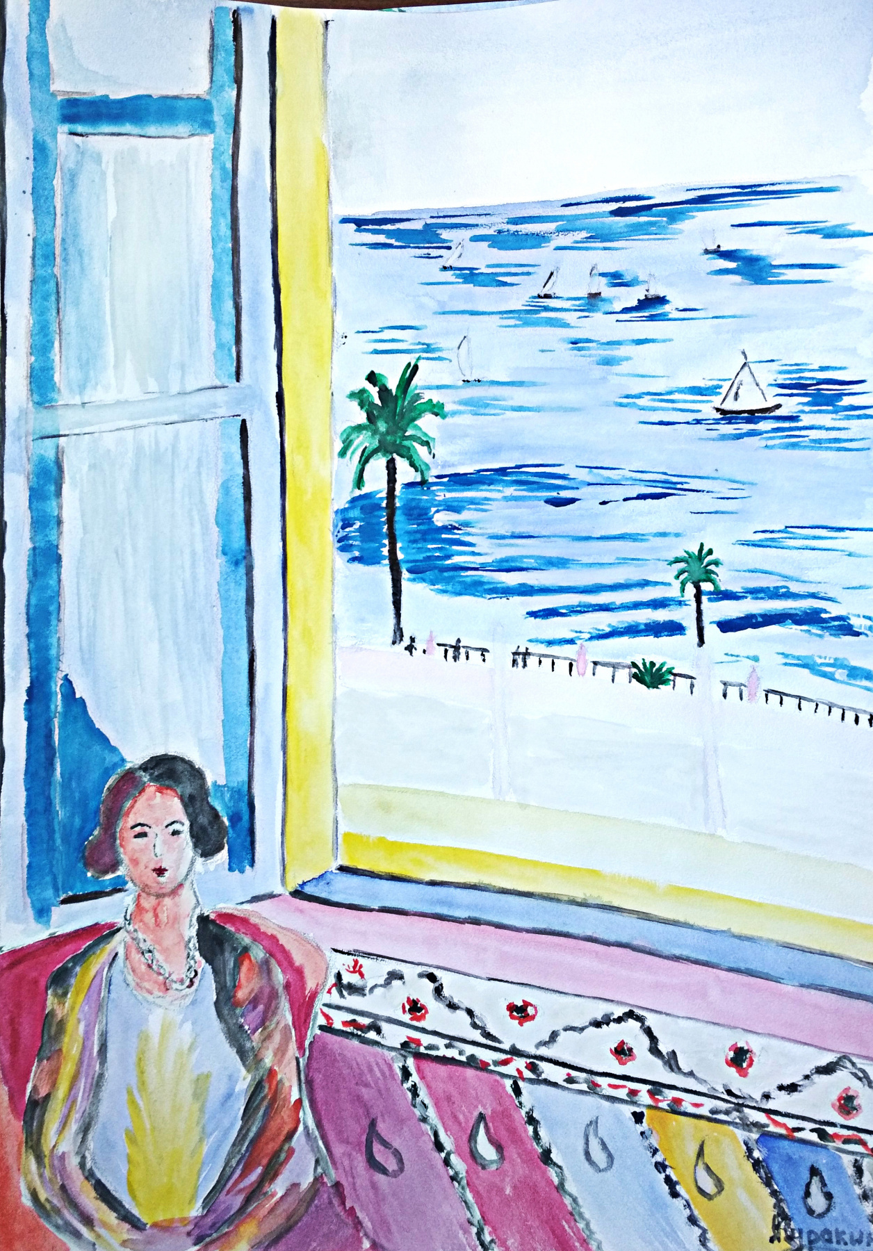 Andrey Kurakin. Landscape by Matisse