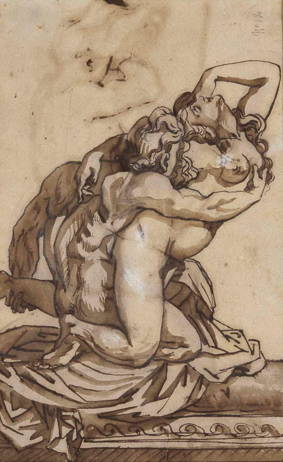 Théodore Géricault. Nude man and woman. Etude