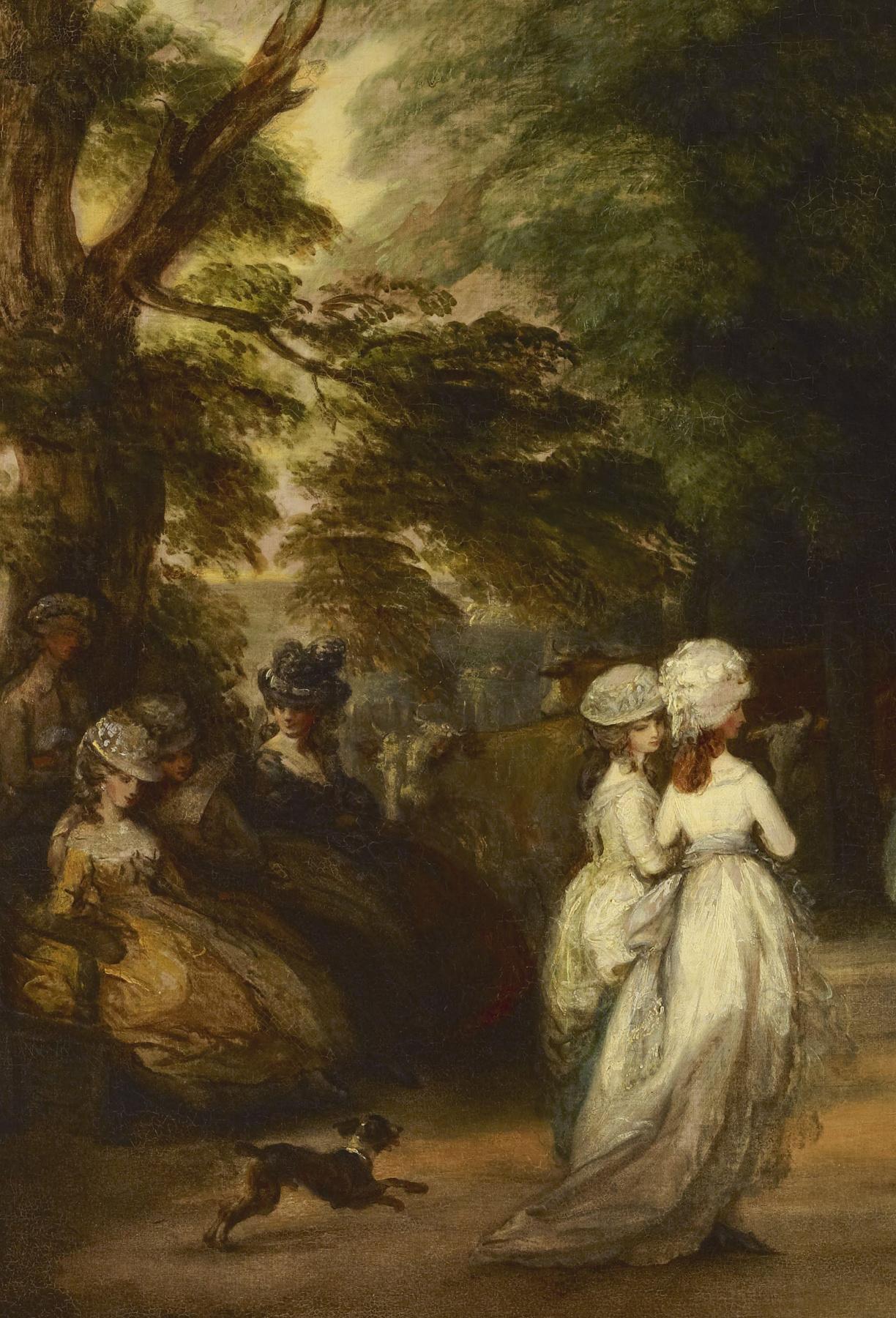 Thomas Gainsborough. A walk in St. James's Park. Fragment II