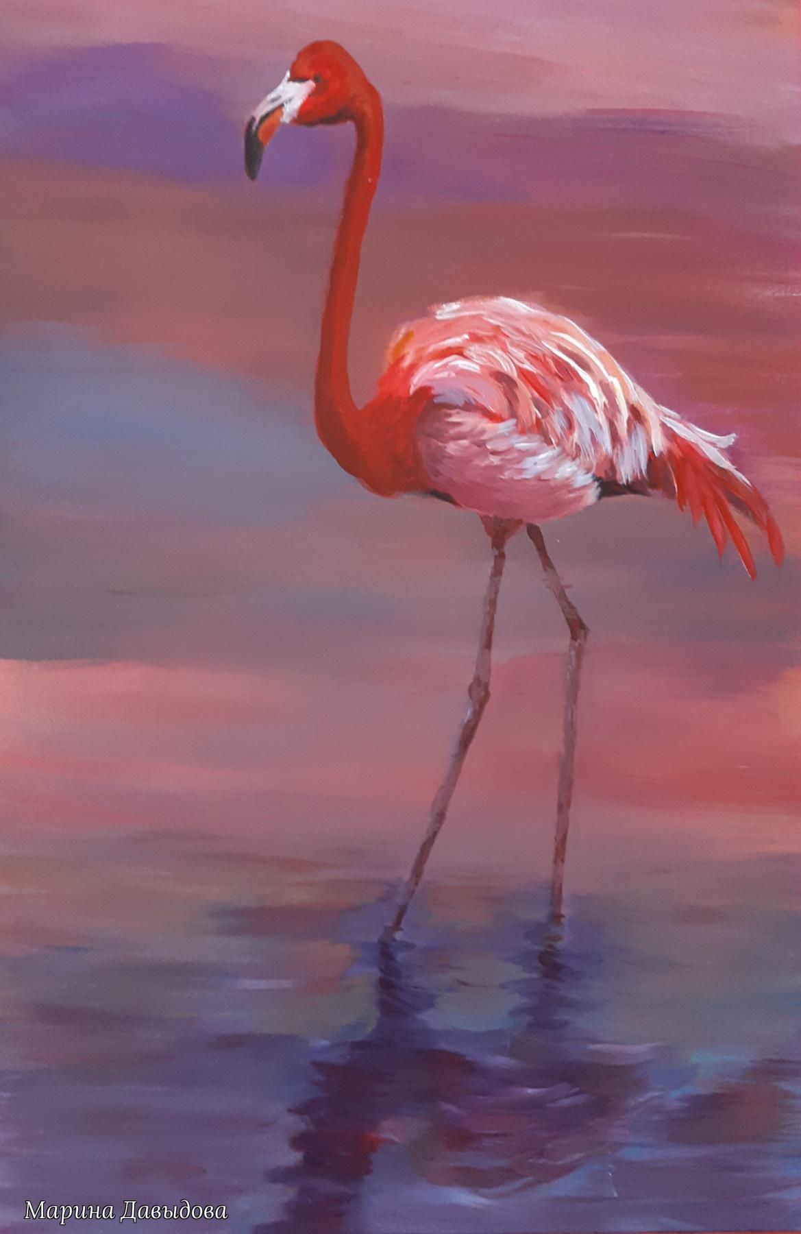 Марина Давыдова. Розовый фламинго