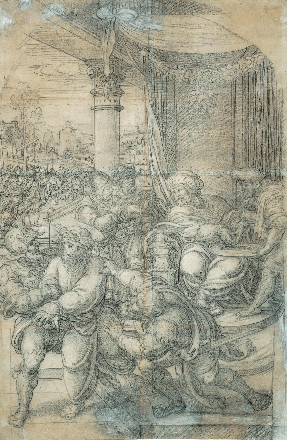 Bernart Van Orley. Pilate washes his hands