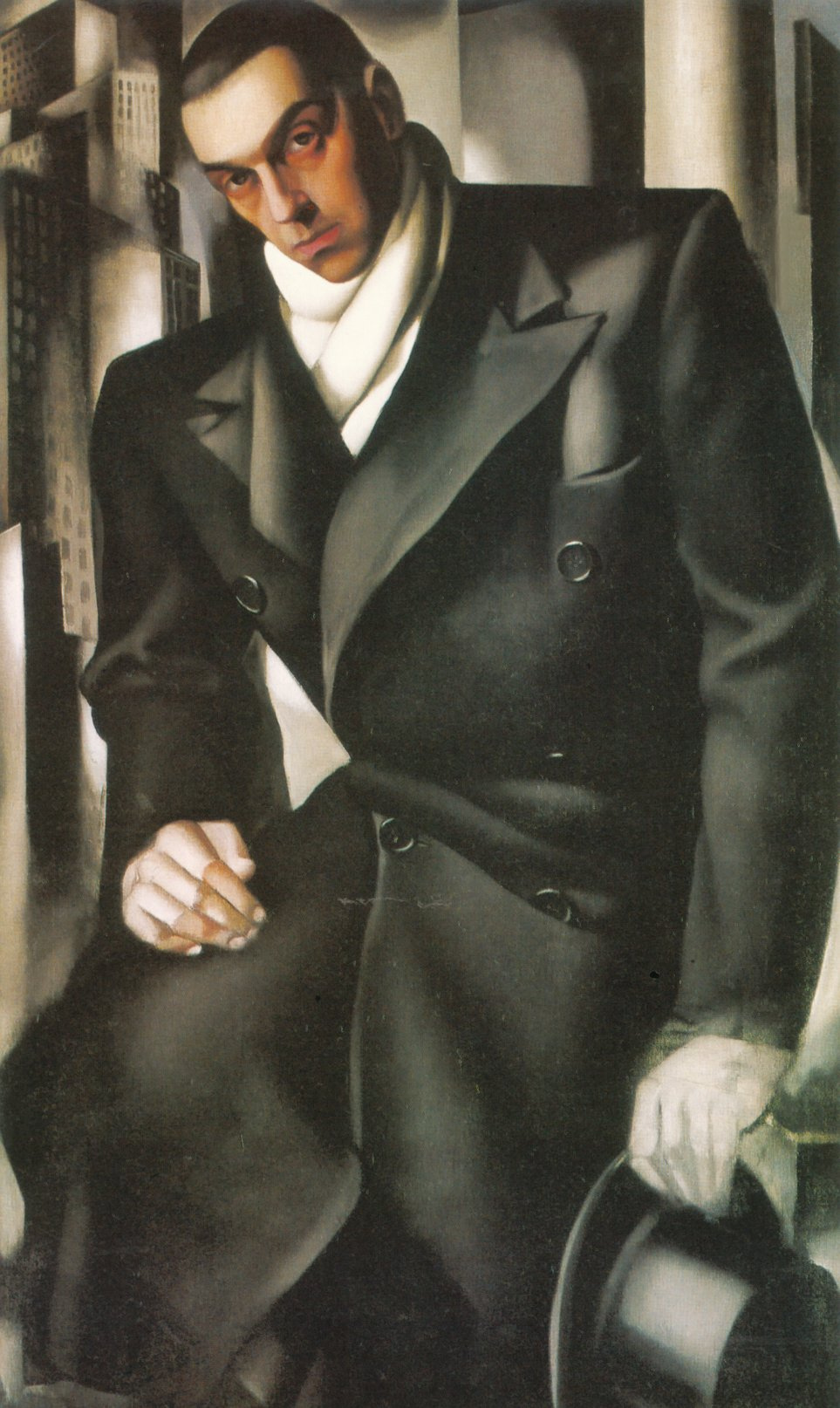 Tamara Lempicka. Tadeusz Lempitski (Portrait of a Man, Unfinished)