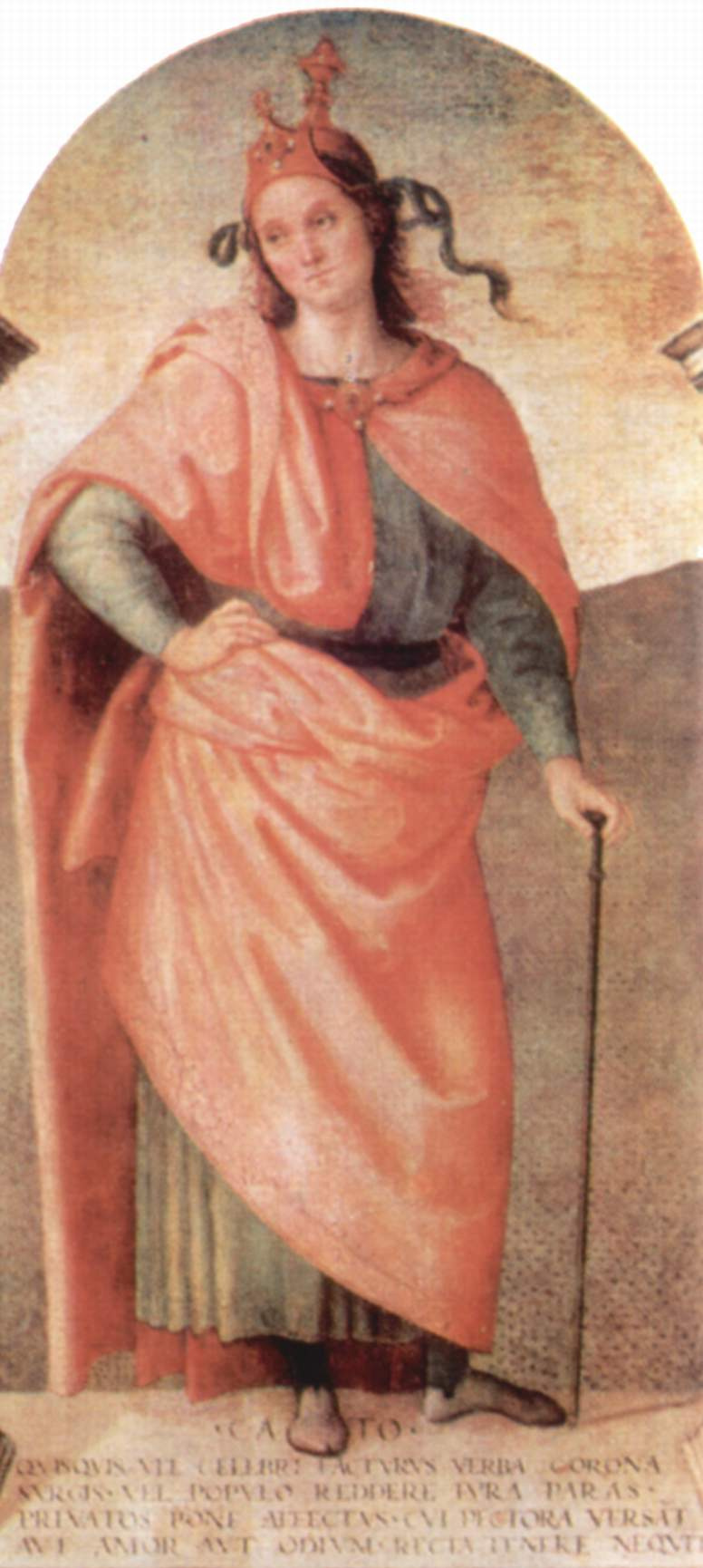 Pietro Perugino. The frescoes of the halls of the techniques of the management Board of the exchange in Perugia. Cato