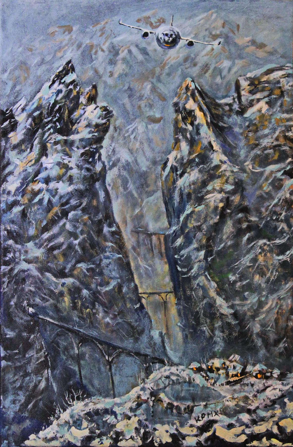 Leo Mikhailovich Karnaukhov. Roof of the world. oil on canvas 63х43 2020 130000