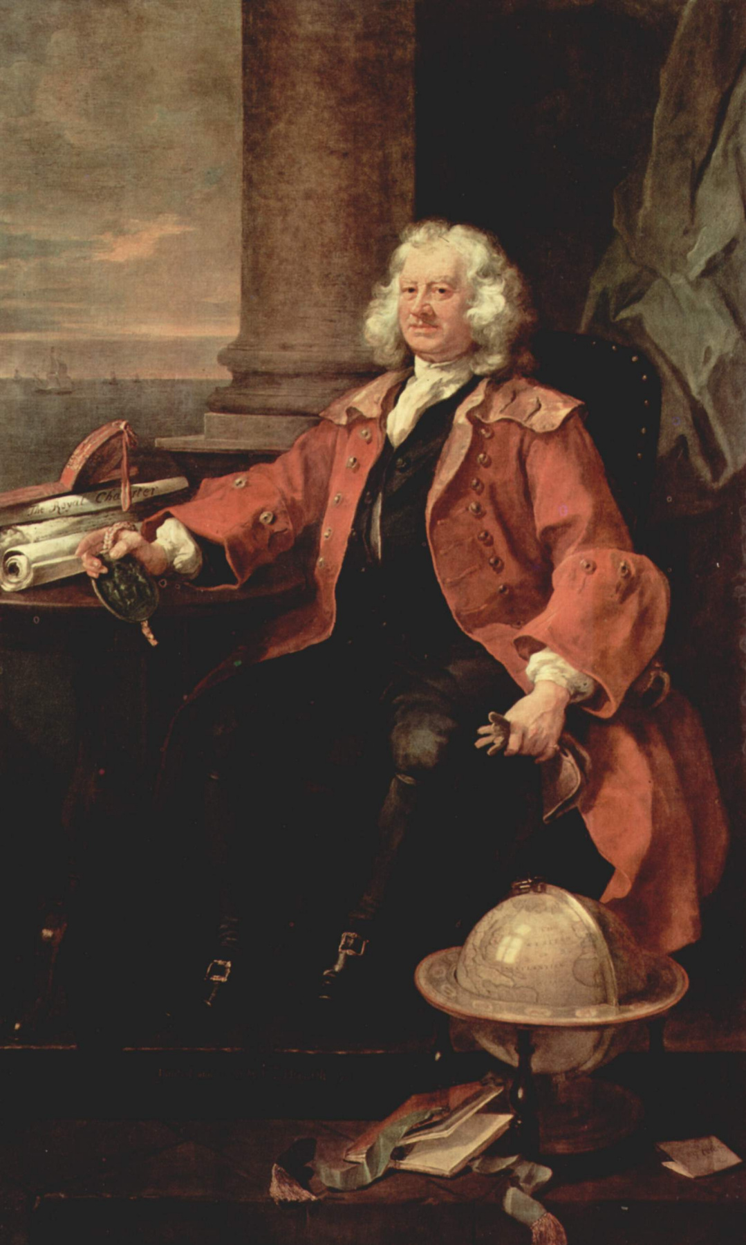 William Hogarth. Portrait of captain Thomas Karama