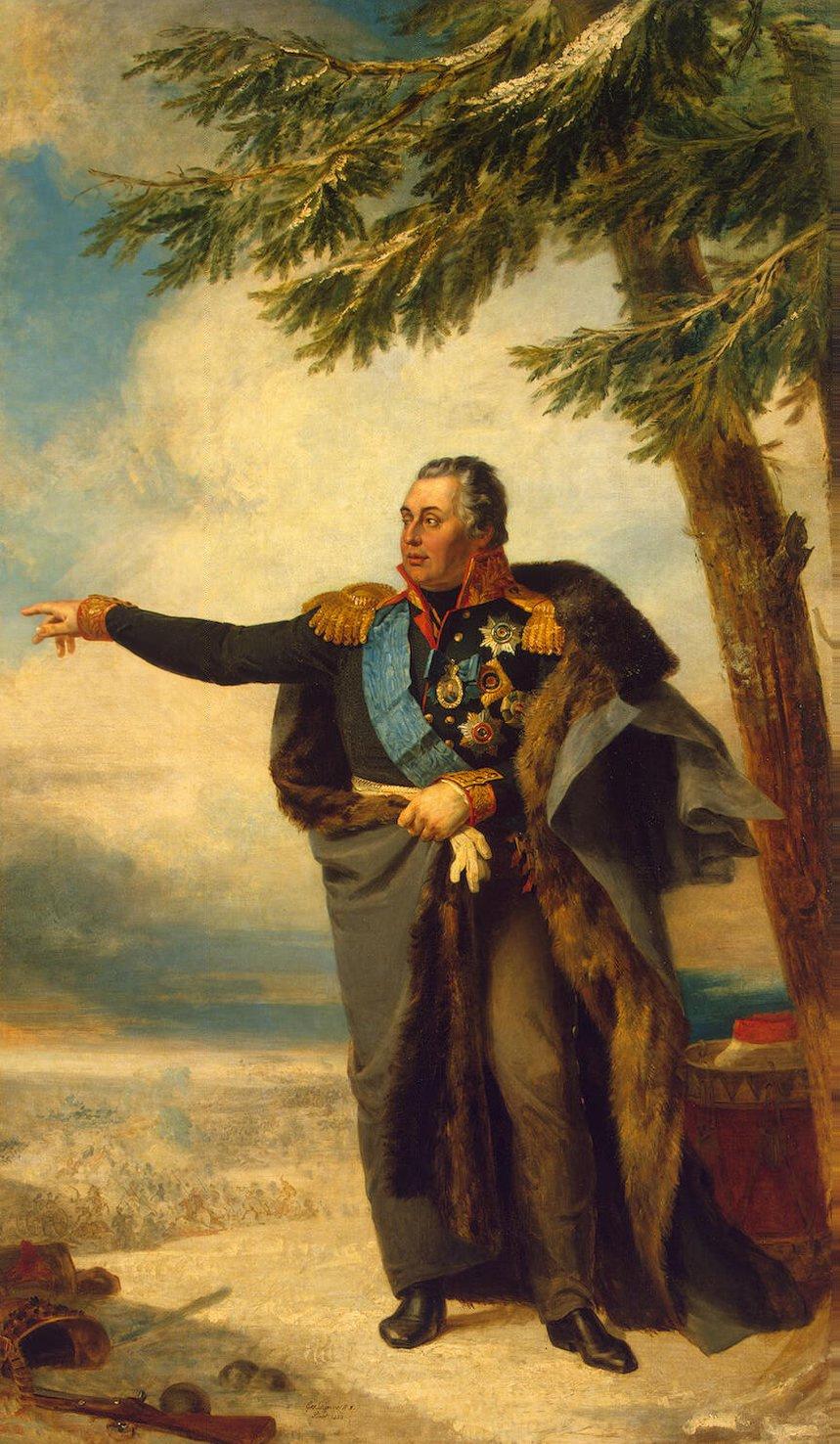 George Dow. Portrait of Mikhail Kutuzov