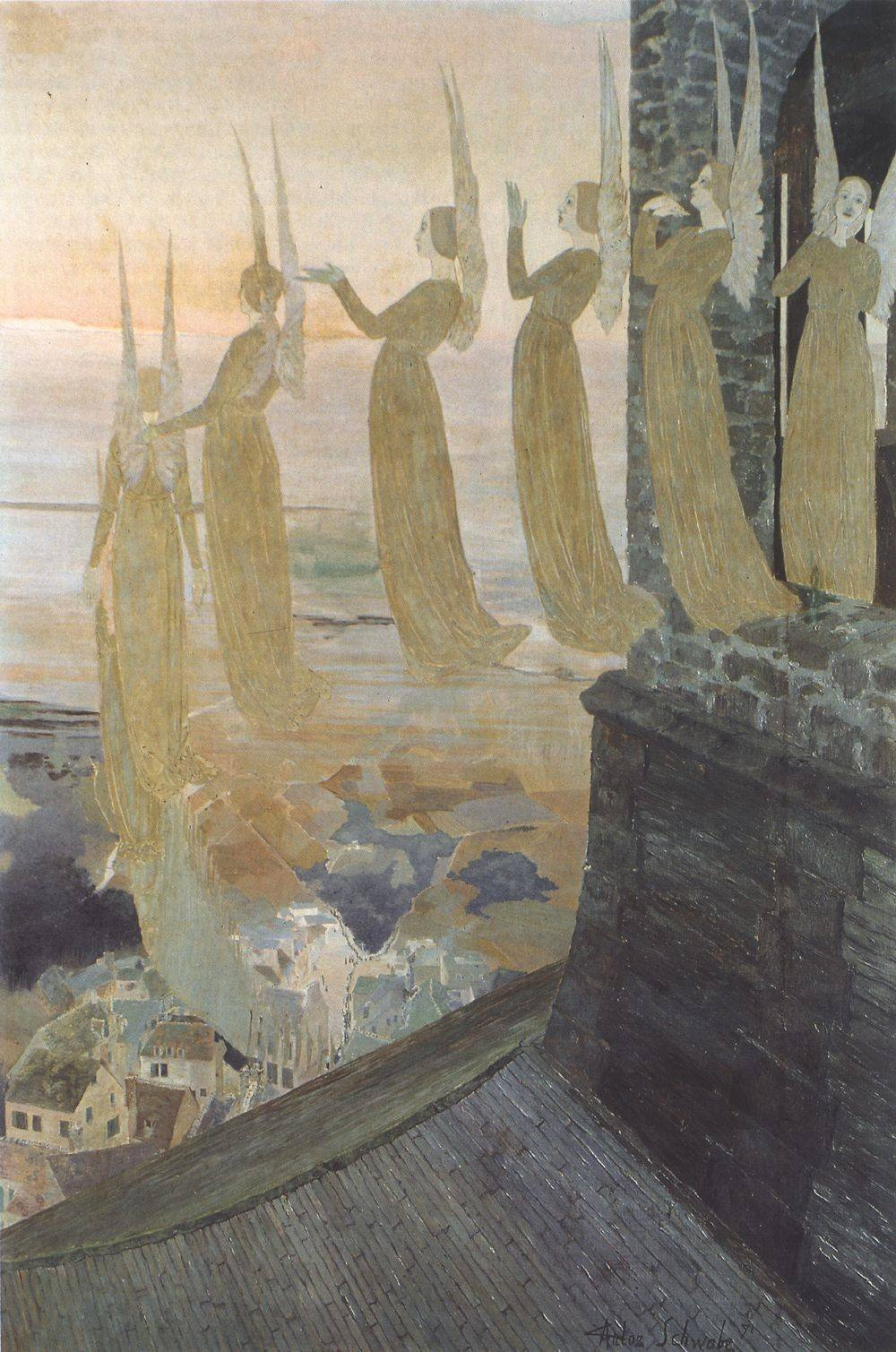 Carlos Schwabe. Evening bells. 1891