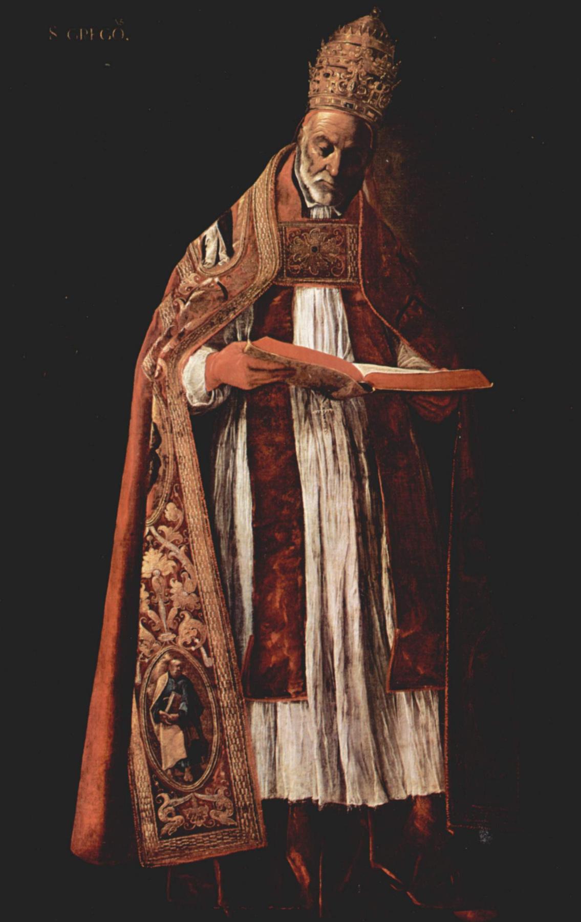 Francisco de Zurbaran. Saint Gregory