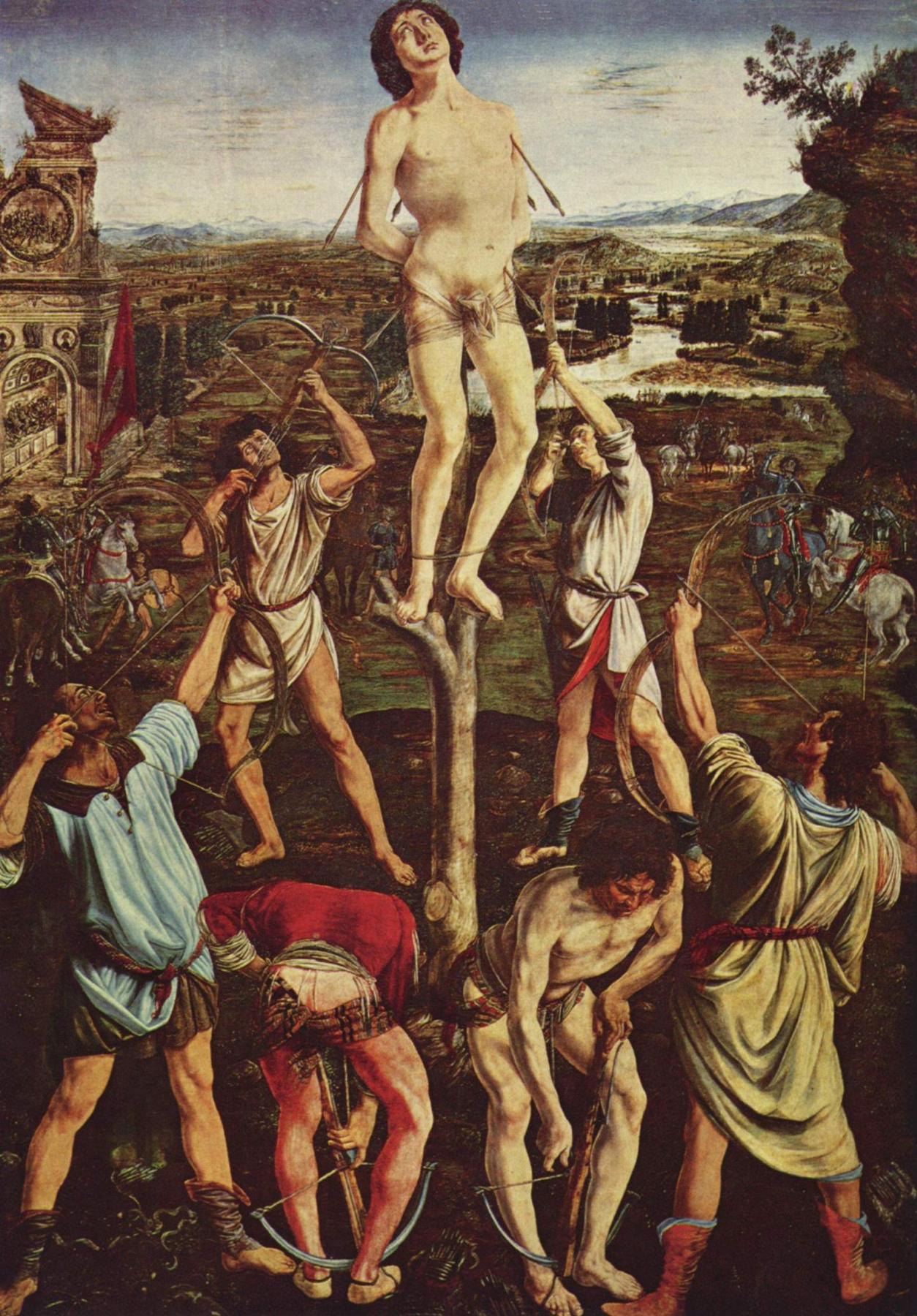 Antonio Pollaiolo. The martyrdom of St. Sebastian
