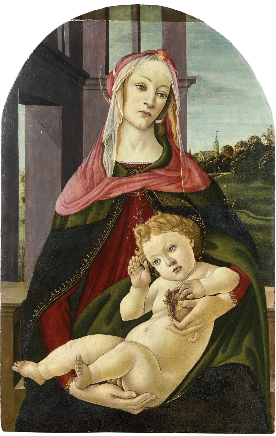 Sandro Botticelli. Madonna of the Pomegranate