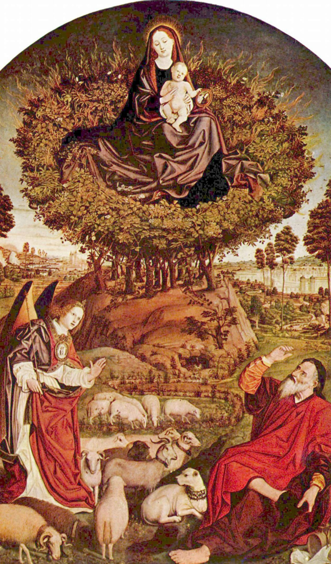 Nicola Froman. Triptych of the burning Bush, the Central part