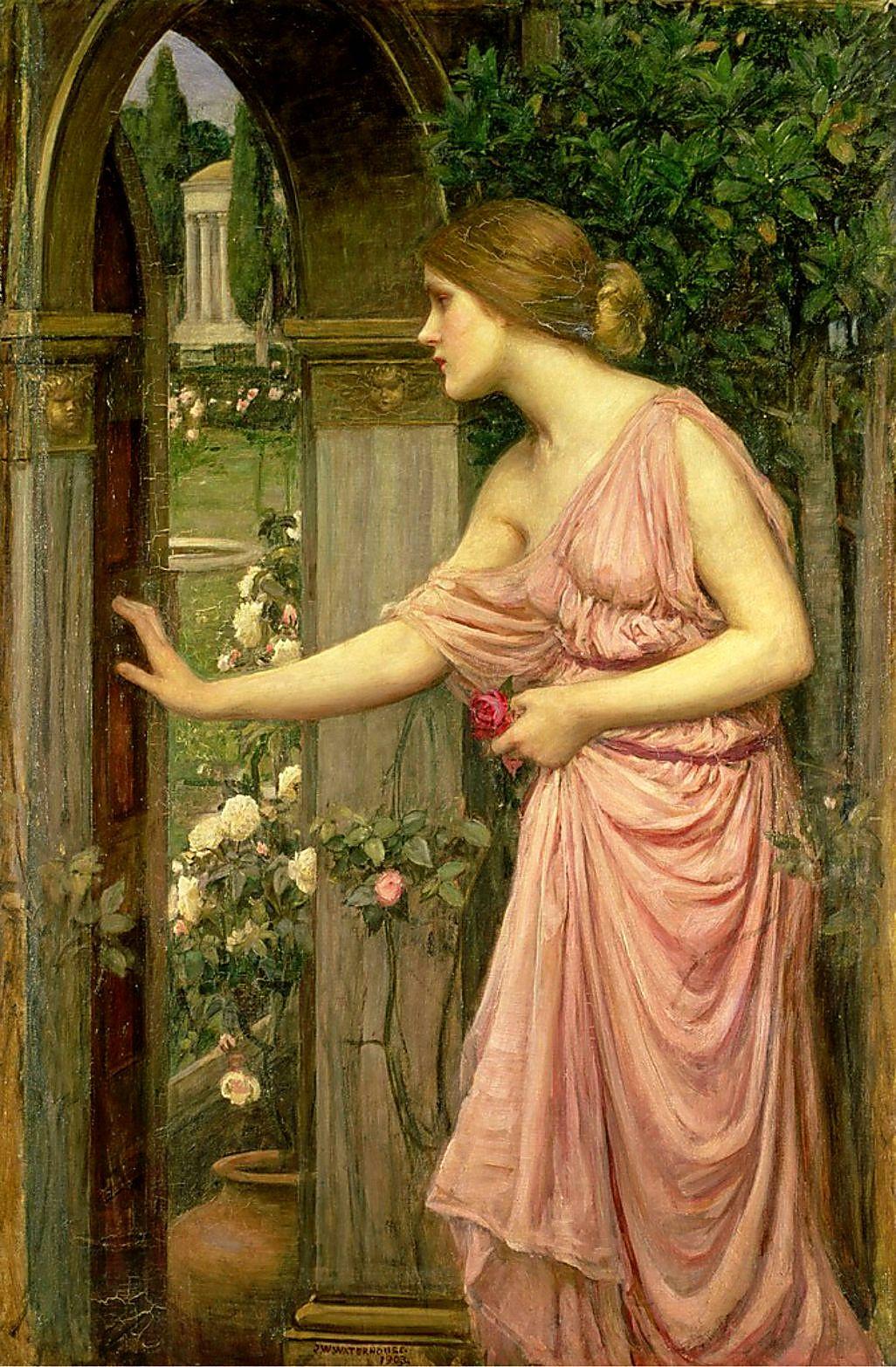 Psyche entering the garden of Cupid