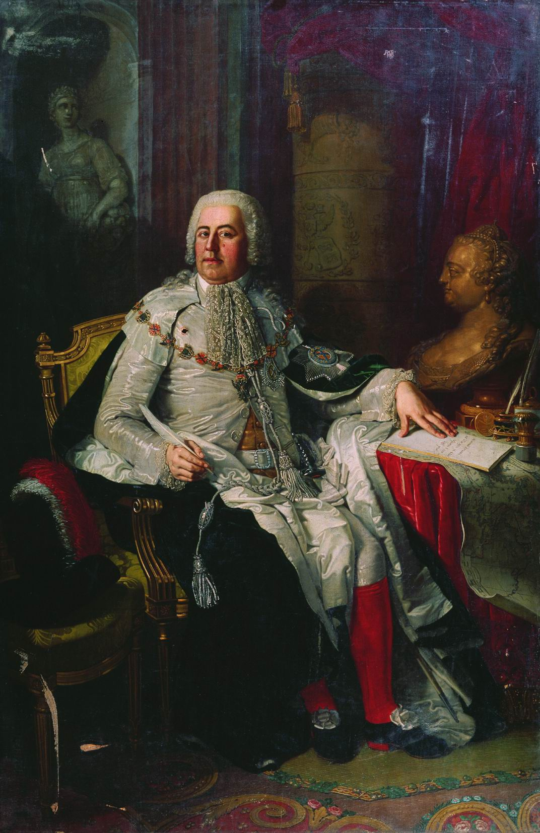 Vladimir Borovikovsky. Portrait of an associate of Peter I Alexander Ivanovich Rumyantsev