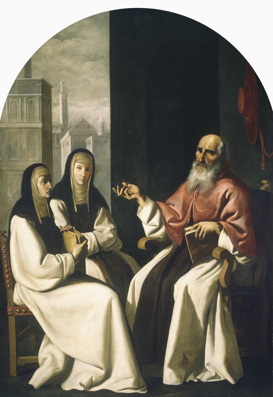Francisco de Zurbaran. Saint Jerome with Saint Paula and Saint Eustachia