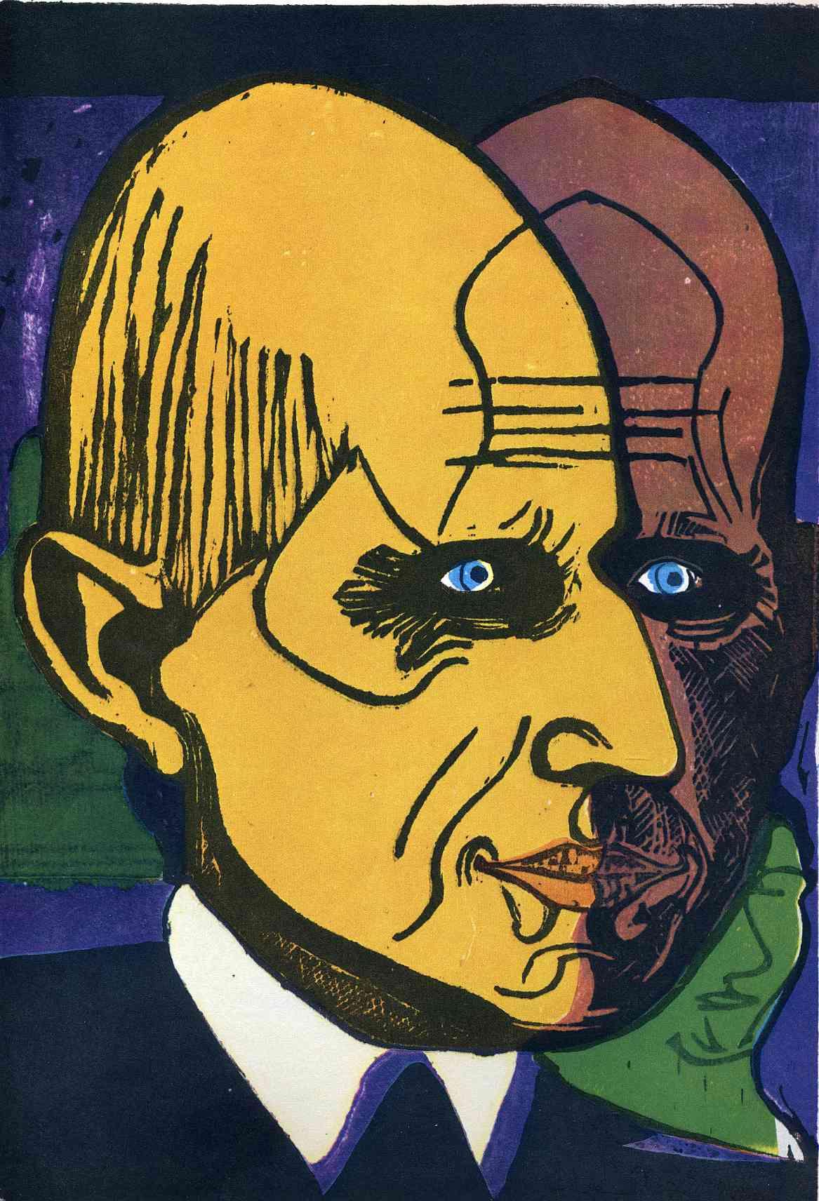Ernst Ludwig Kirchner. Portrait of Dr. Bauer