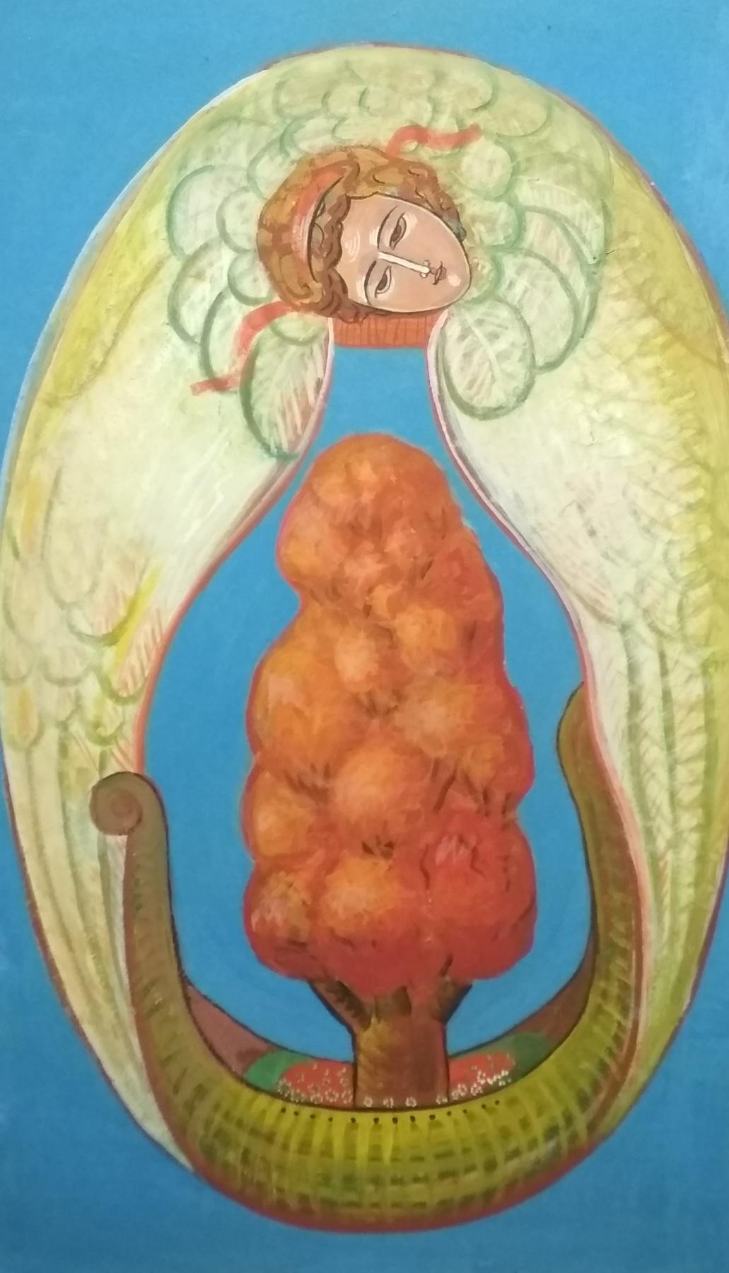 Rostislav Nikolaevich Ivanov. Angel with the Ark of the Seasons - Autumn