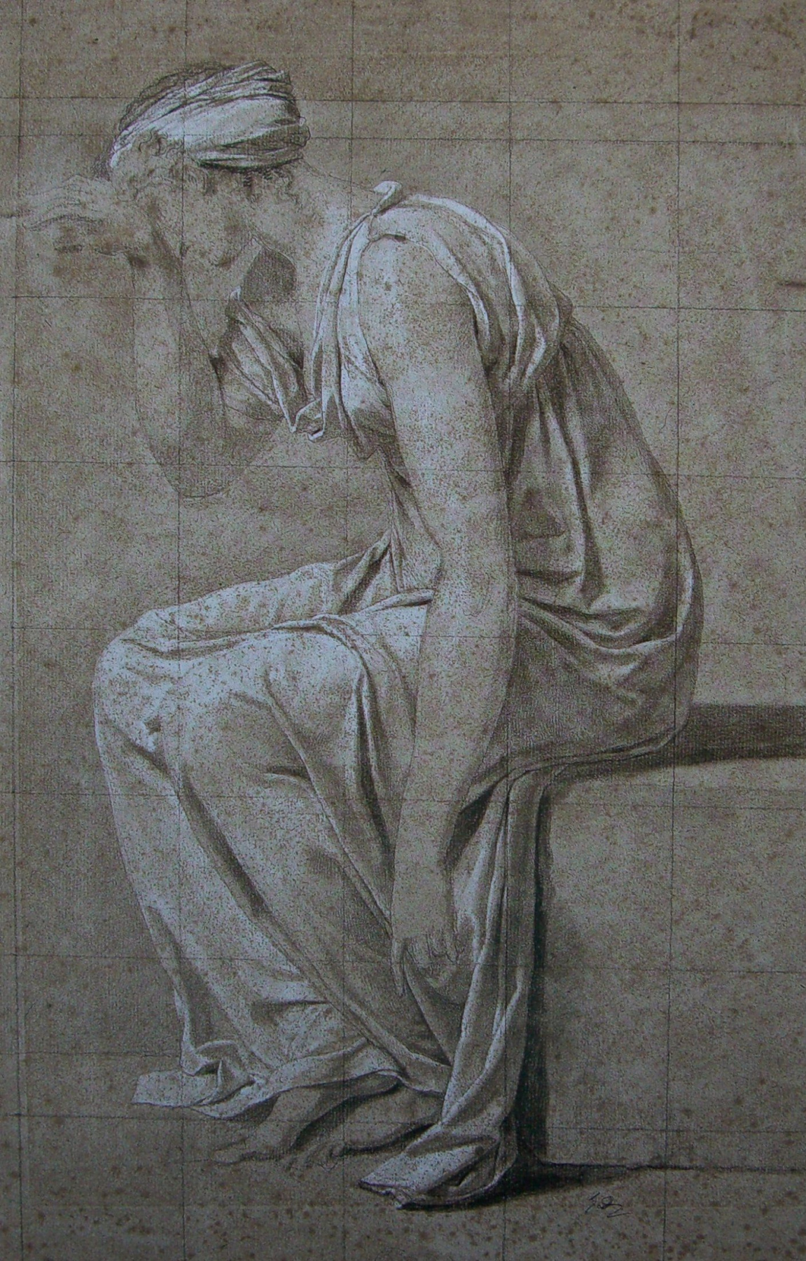 """Jacques-Louis David. Sabine (Sketch to the """"Oath Horatii"""")"""