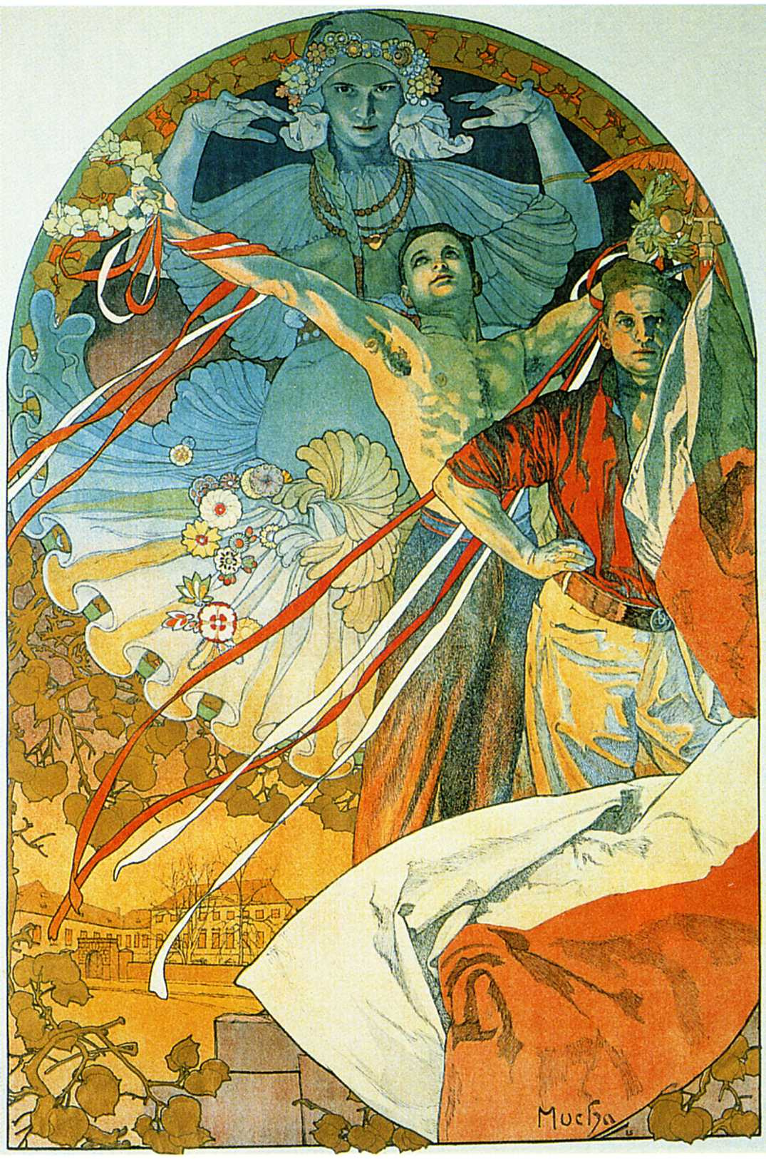 Alfons Mucha. Promotional poster for the Eighth festival Sokol in Prague in 1926