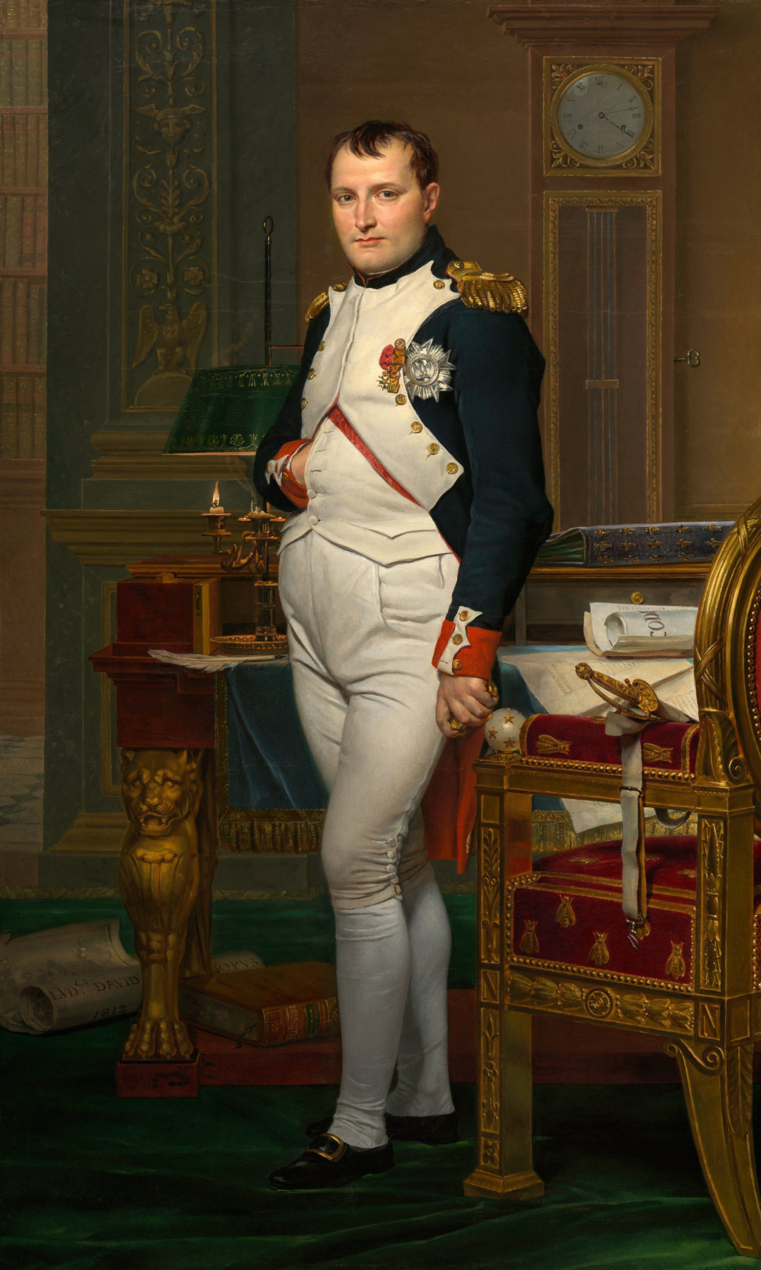 Jacques-Louis David. Napoleon Bonaparte in the office of the Tuileries