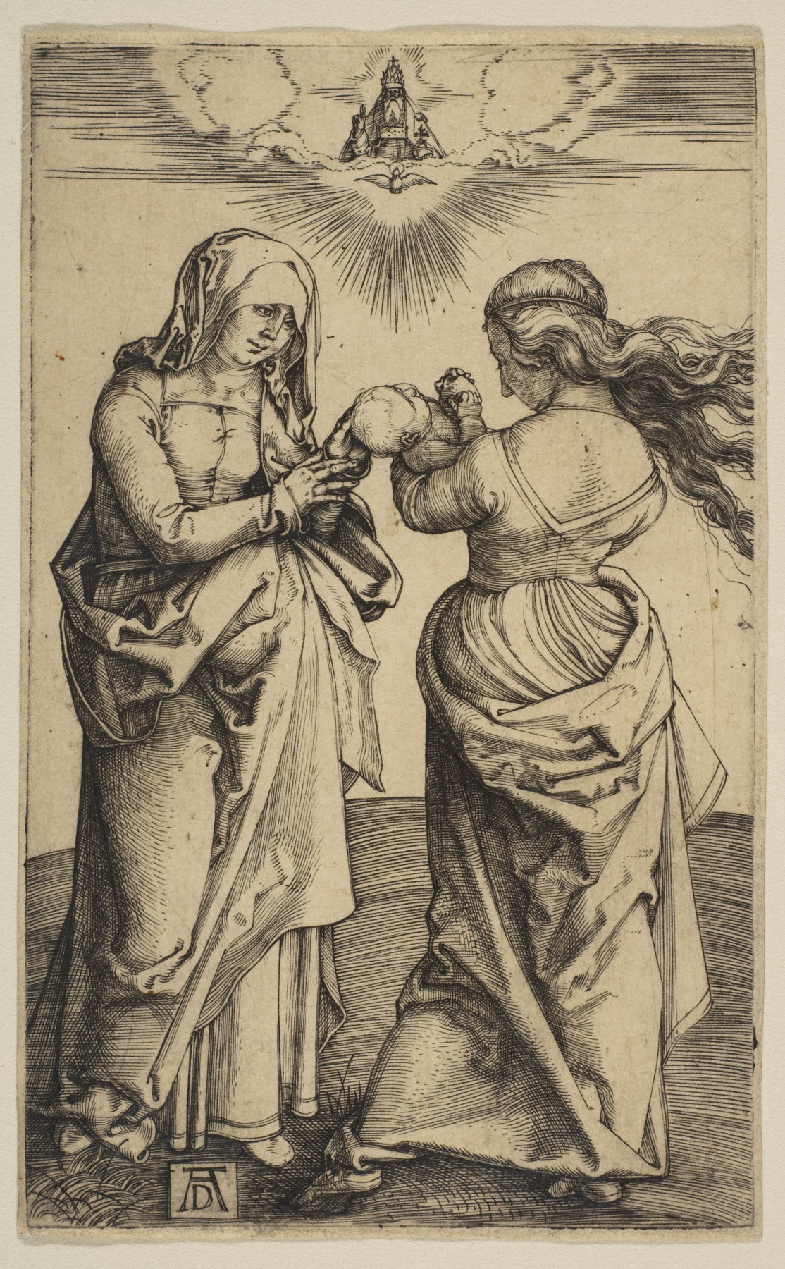Albrecht Dürer. The virgin with the infant Christ and Saint Anne