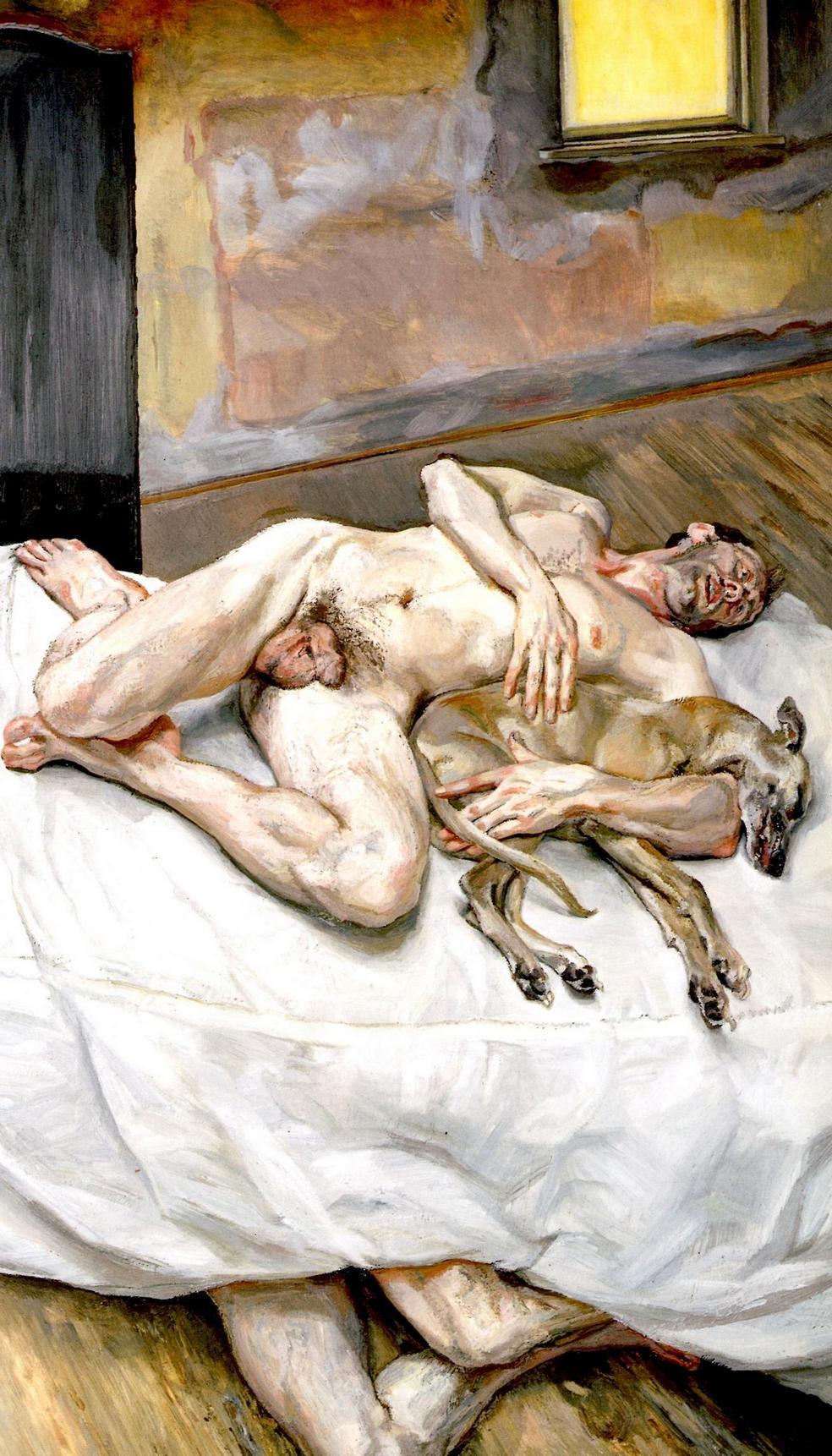 Lucien Freud. Eight feet