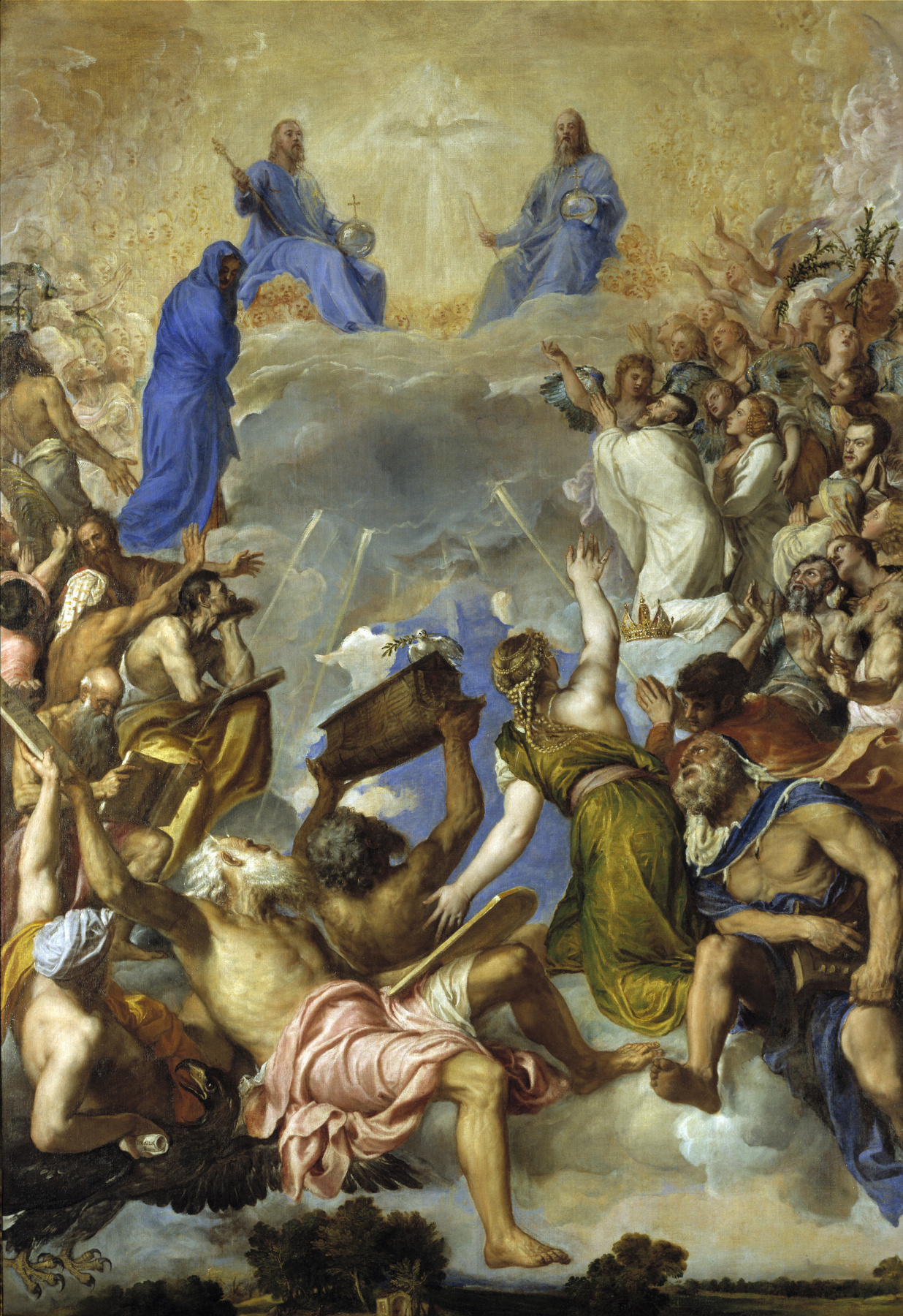 Titian Vecelli. The Worship Of The Holy Trinity