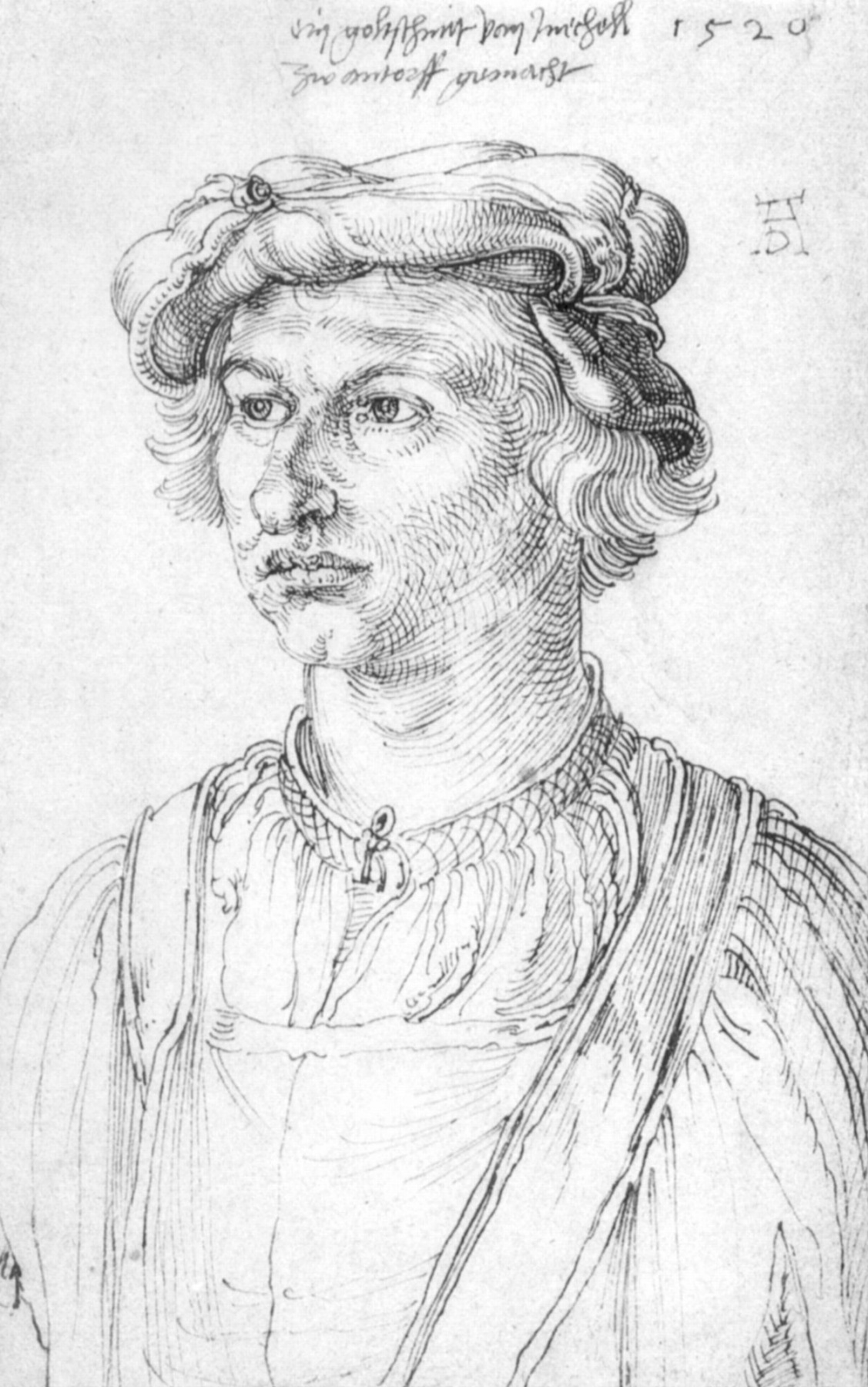 Albrecht Dürer. Portrait of a goldsmith from Mechelen