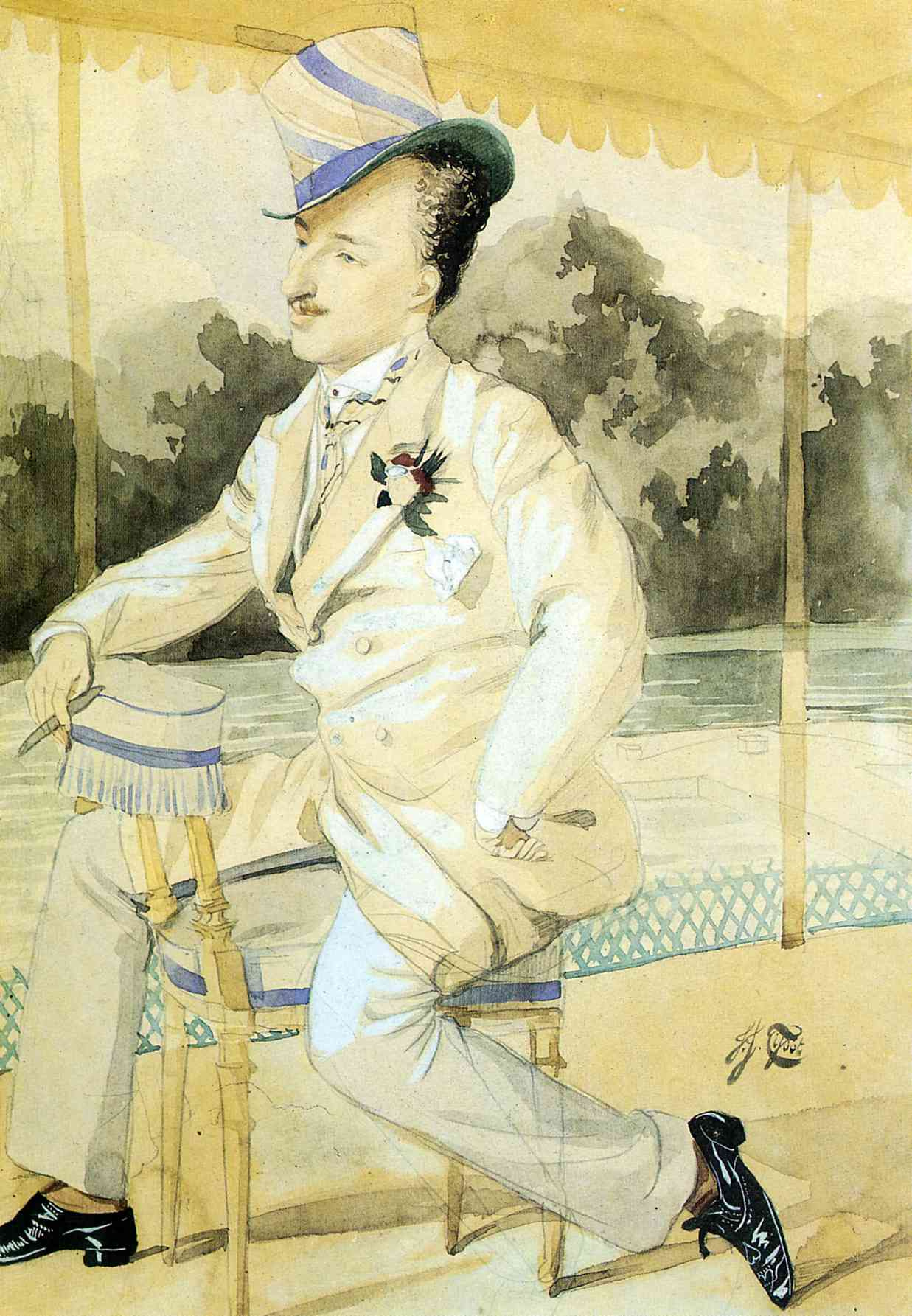 James Tissot. The gentleman in the white
