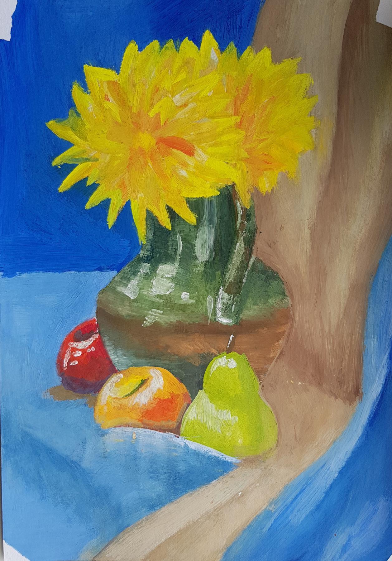 Anya Sherstneva. Still-life with flowers