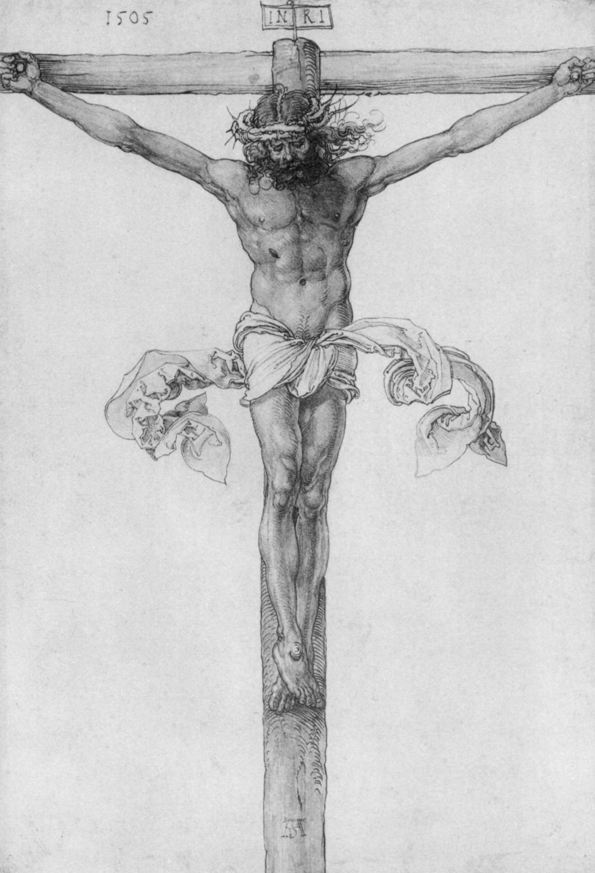Albrecht Dürer. Christ on the cross
