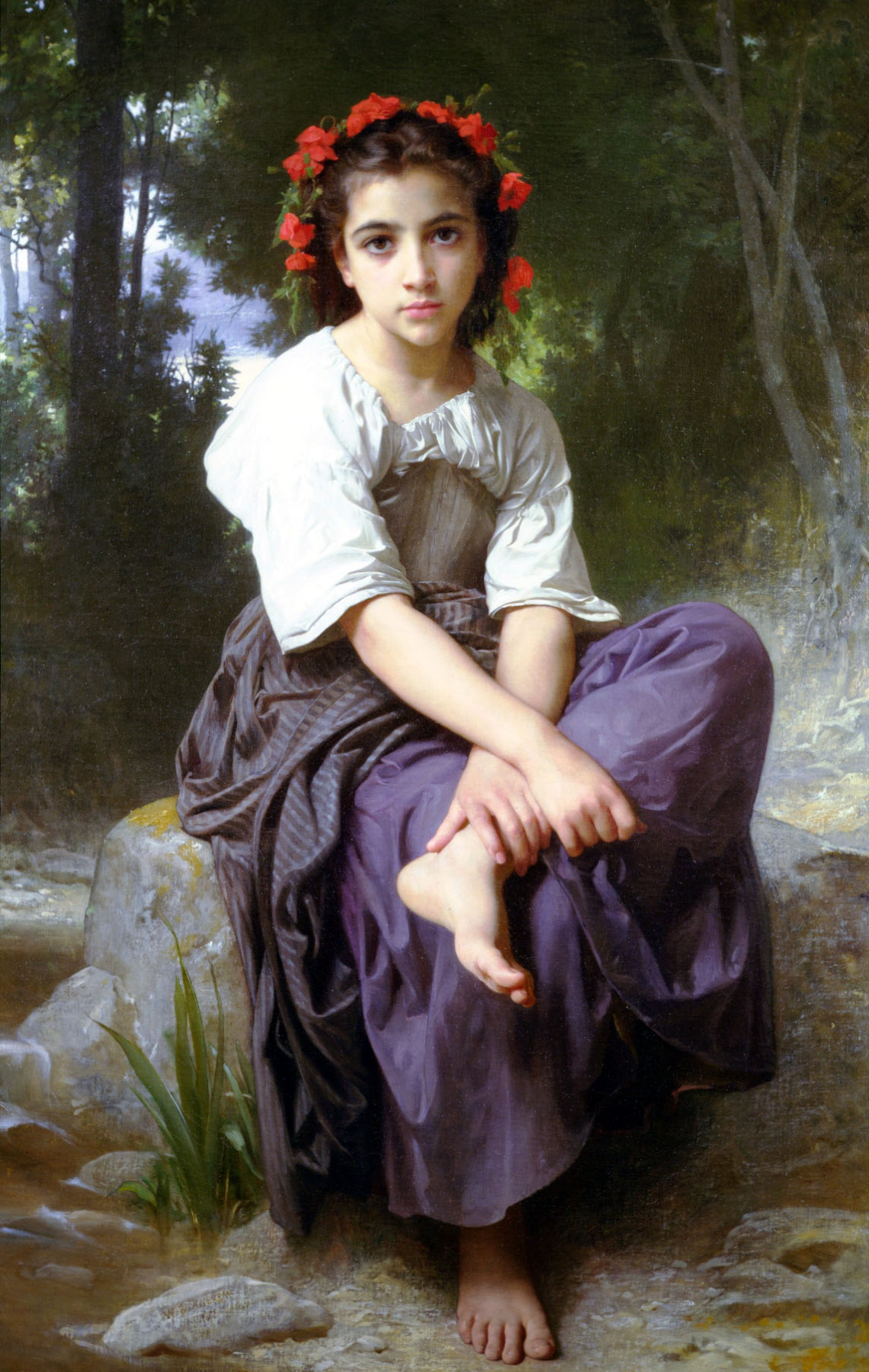 William-Adolphe Bouguereau. On the banks of the river
