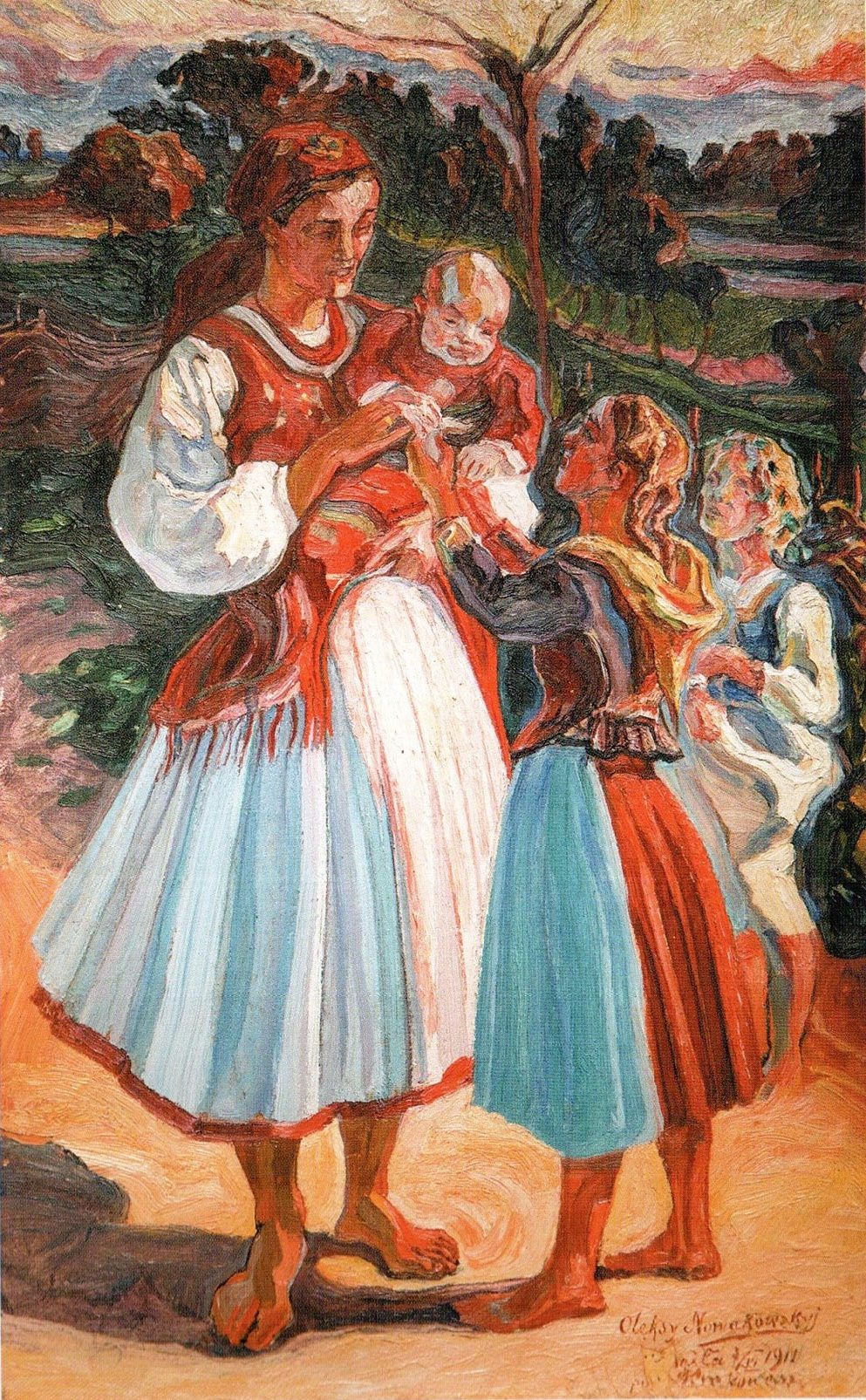 Алексей (Олекса) Новаковский. Young mother with children
