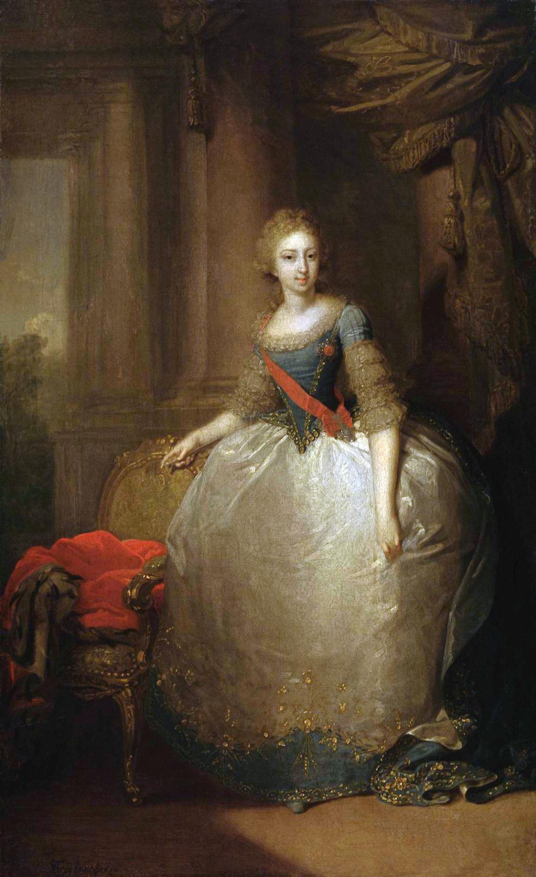 Vladimir Borovikovsky. Portrait of Grand Duchess Elena Pavlovna, daughter of Paul I