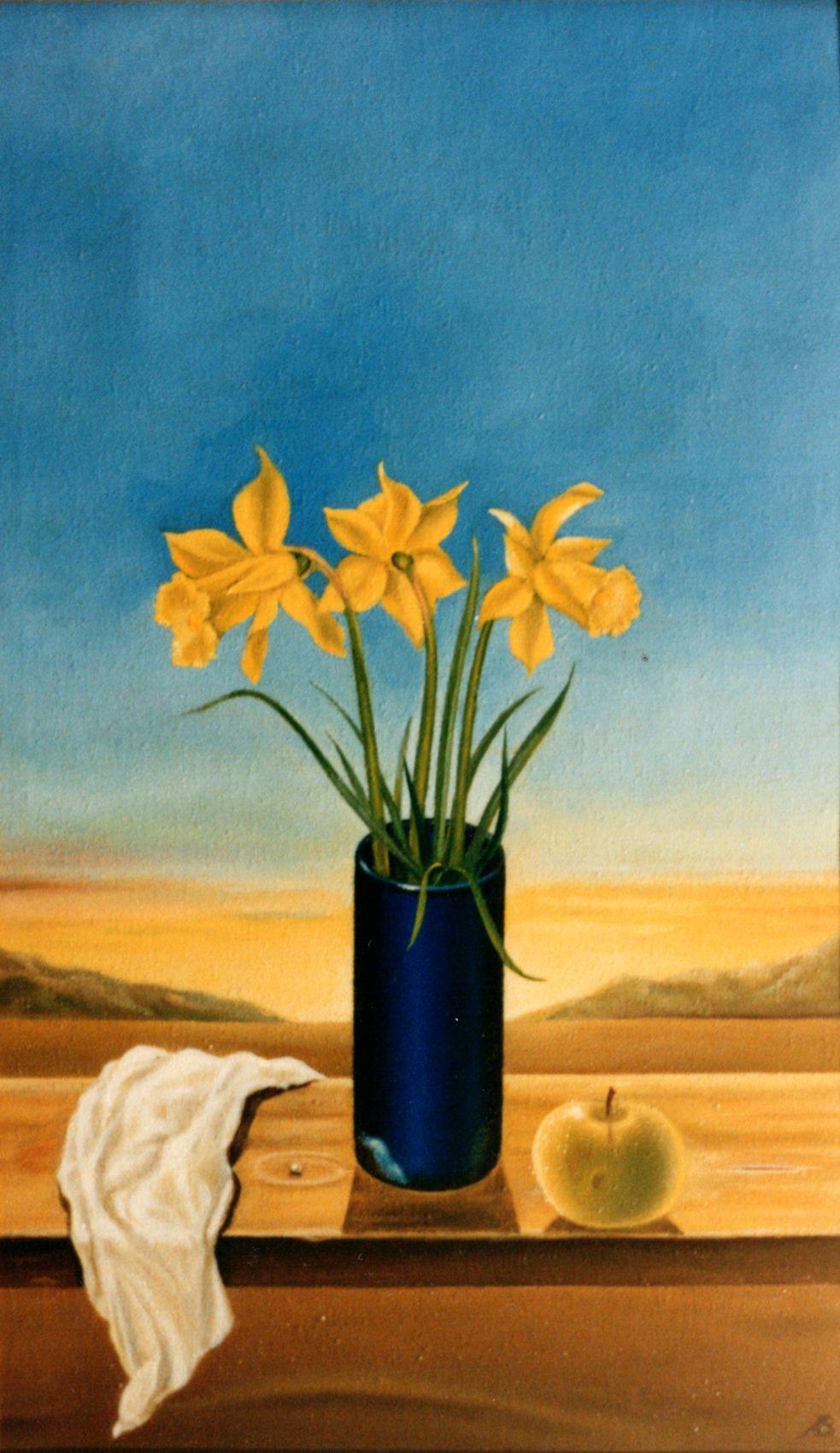 Vladimir Vasilyevich Abaimov. Still-life with Daffodils