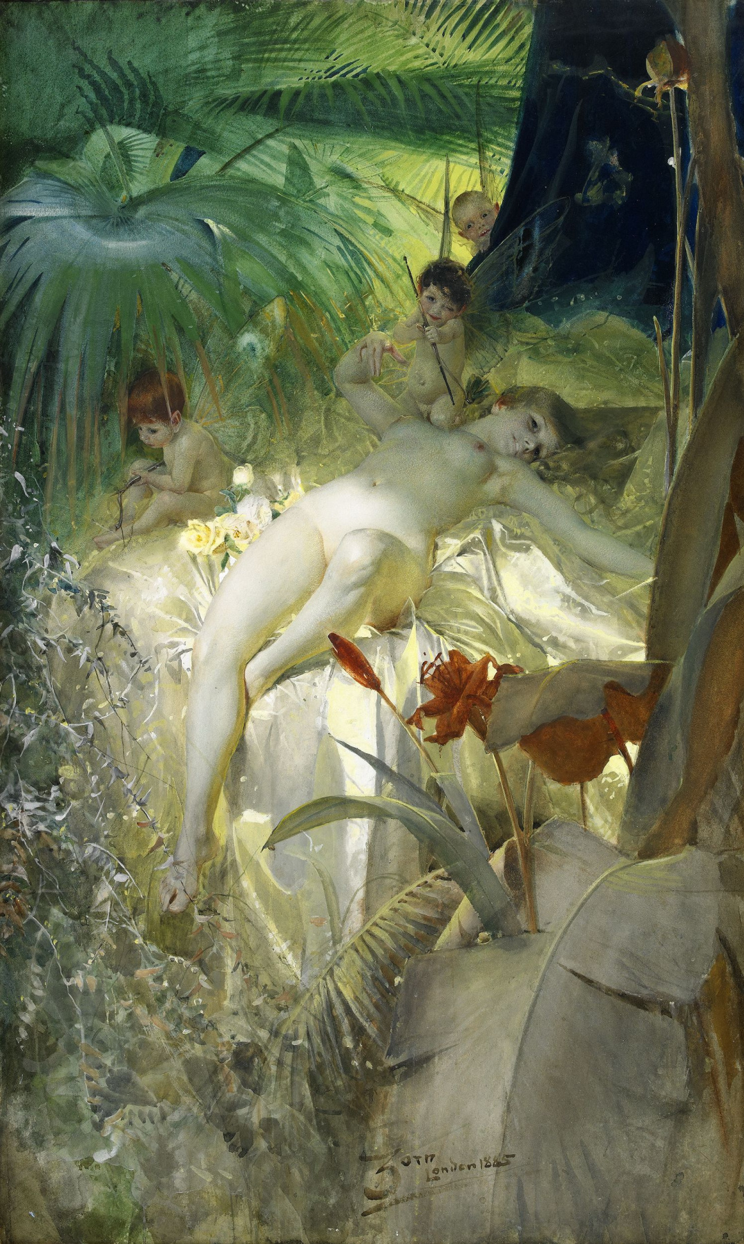 Anders Zorn. The nymph of love