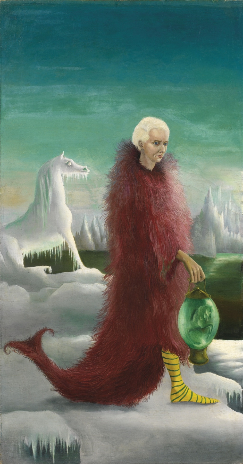 Leonora Carrington. A magnificent bird. Portrait of Max Ernst