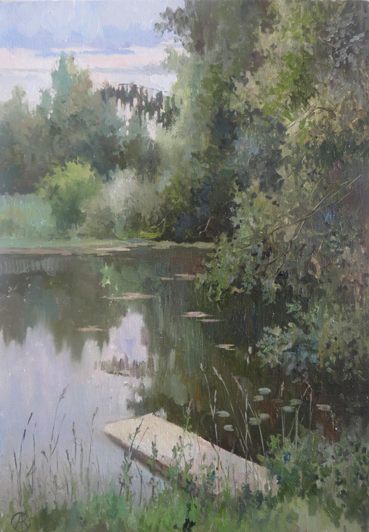 Ольга Акрилова. Pond in Yarovo