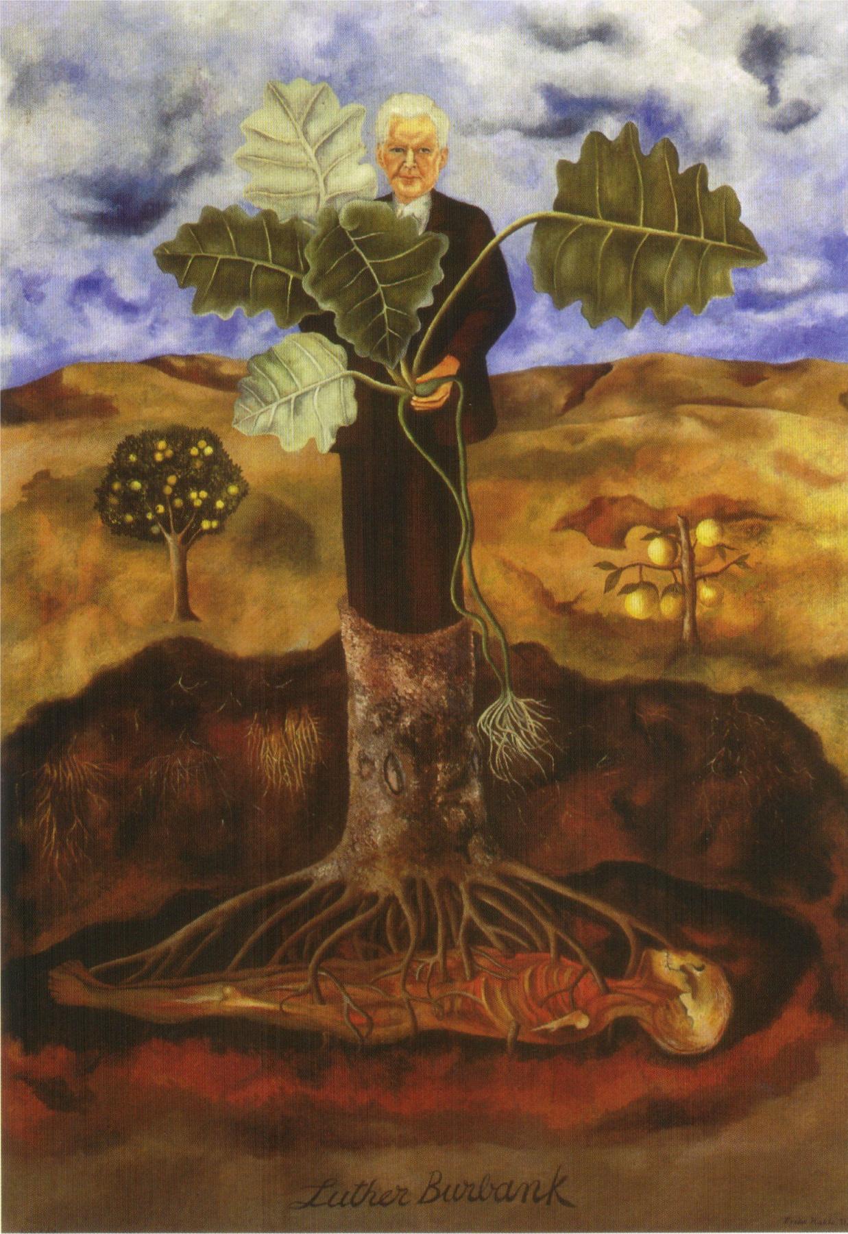 Frida Kahlo. Portrait of botanist Luther Burbank