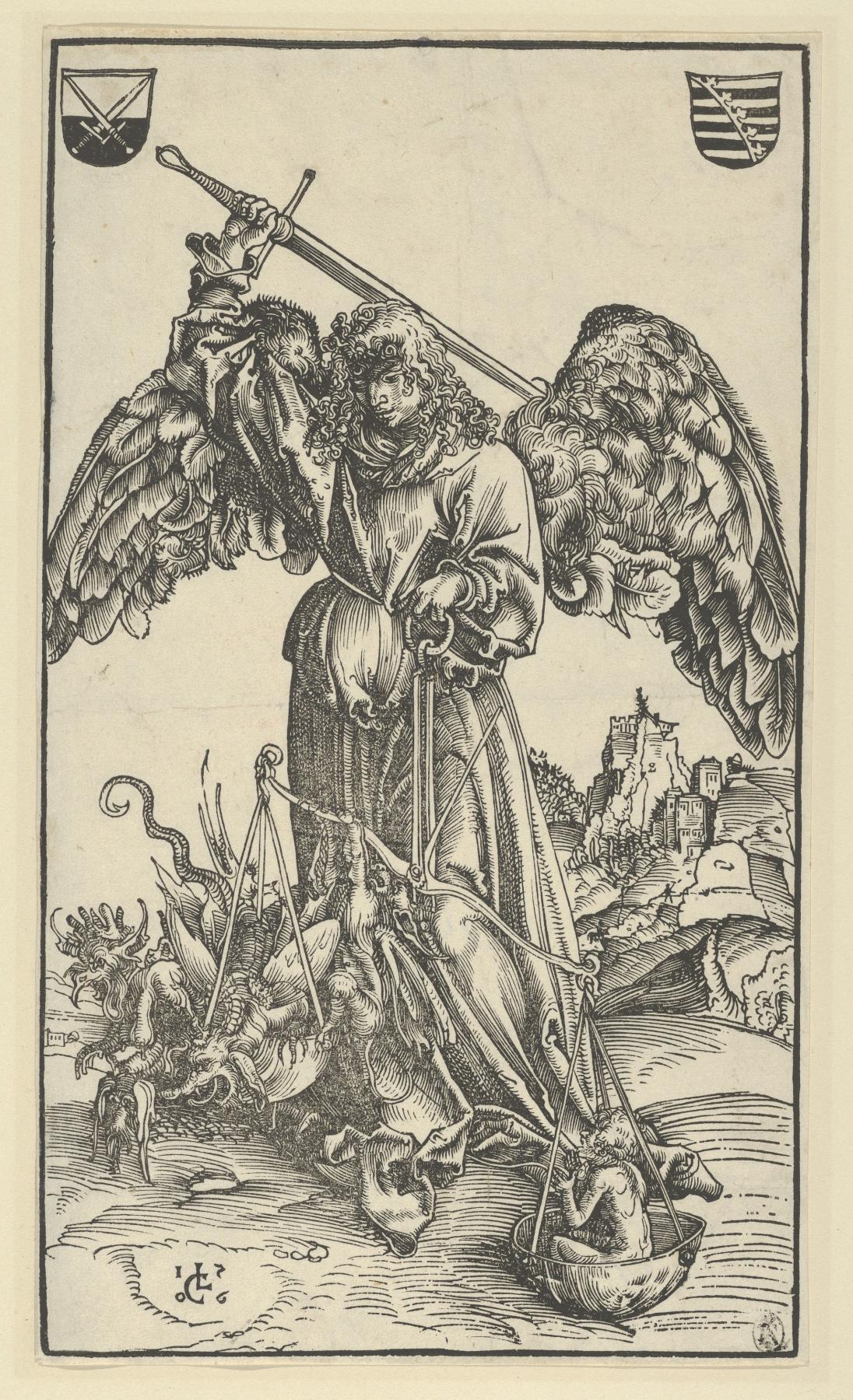 Lucas Cranach the Elder. The Archangel Michael weighing souls