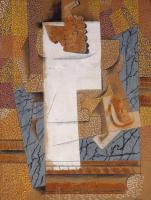 Пабло Пикассо. Композиция с гроздью винограда и разрезанной грушей