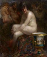 Виталий Гаврилович Тихов. Обнажённая на фоне картины Рубенса. 1920