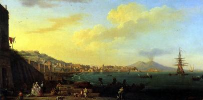 Клод Жозеф Верне. Вид Неаполя с Везувием