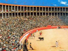 Рамон Касас Карбо. Bullfighting in Barcelona (Bullfight)